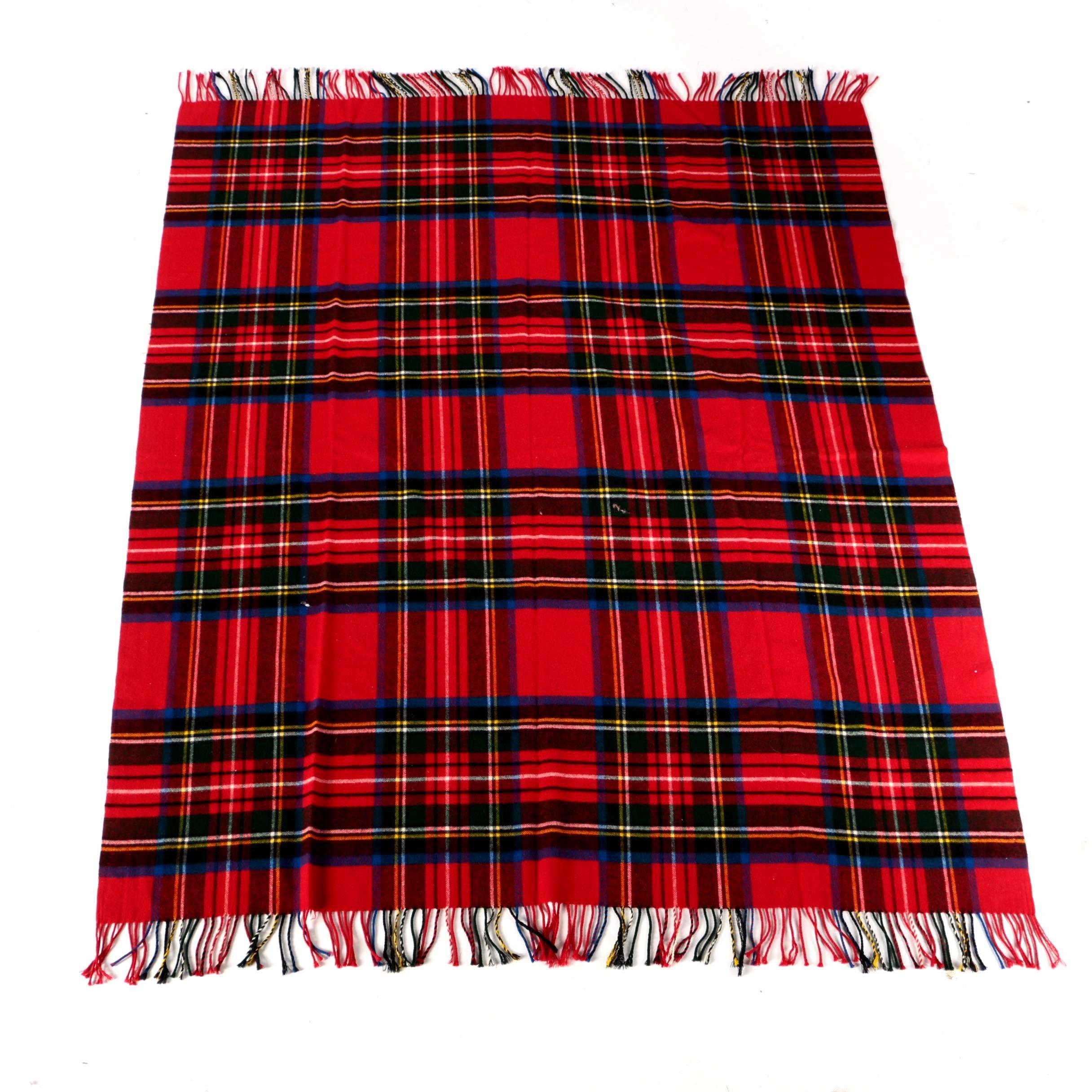 Vintage Jaeger Wool Plaid Blanket