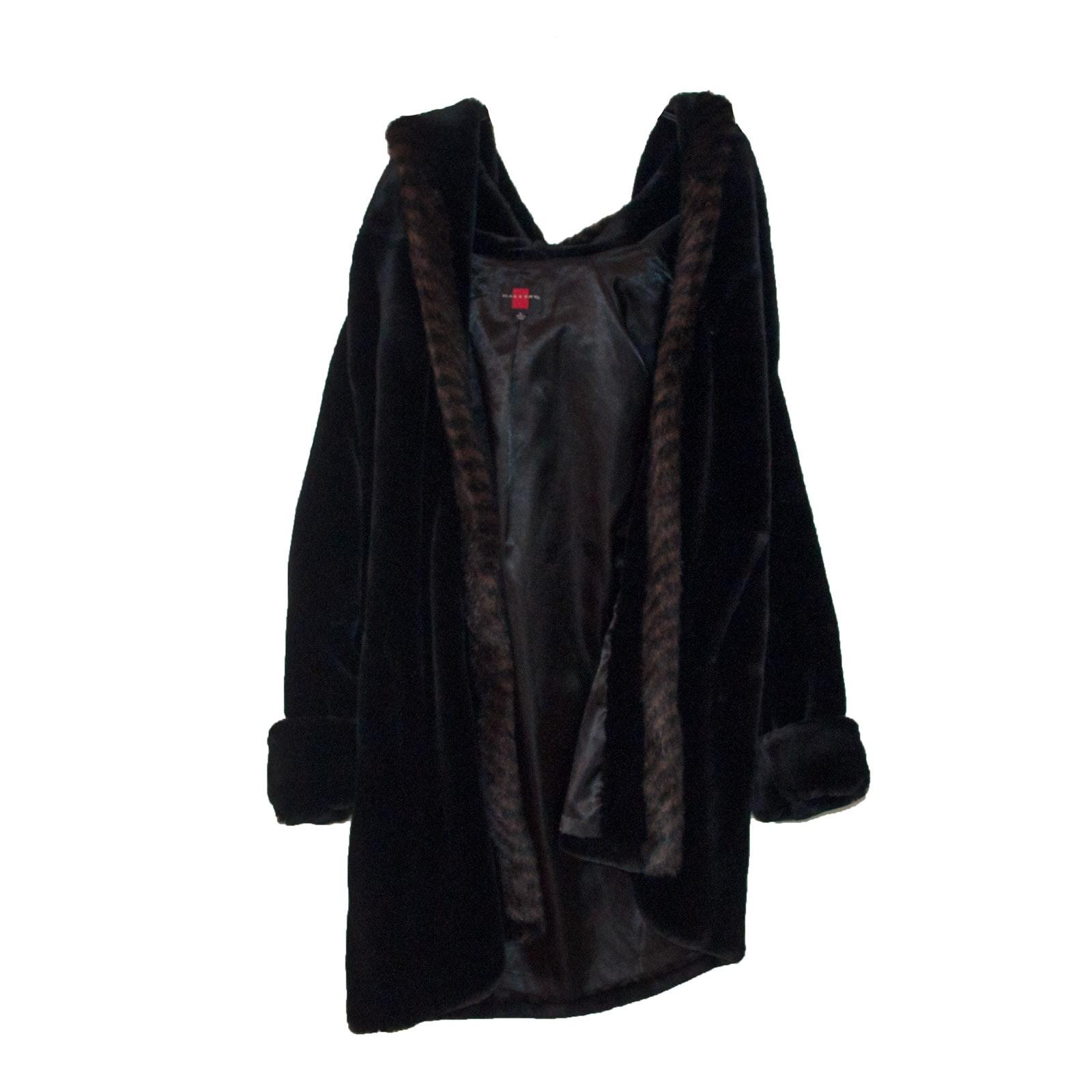 Women's Gallery Faux Fur Hooded Coat