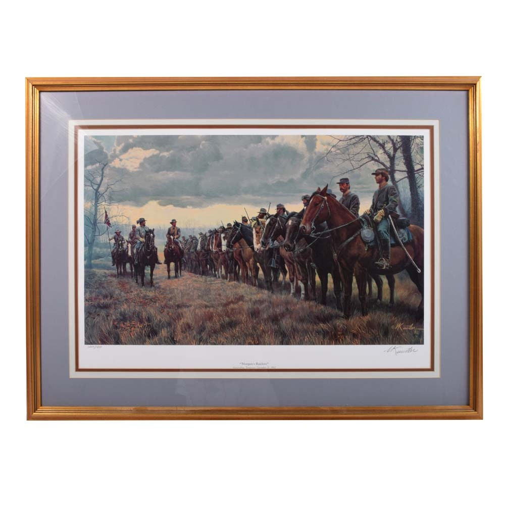 """Mort Künstler """"Morgan's Raiders"""" Signed Limited Edition Offset Lithograph"""