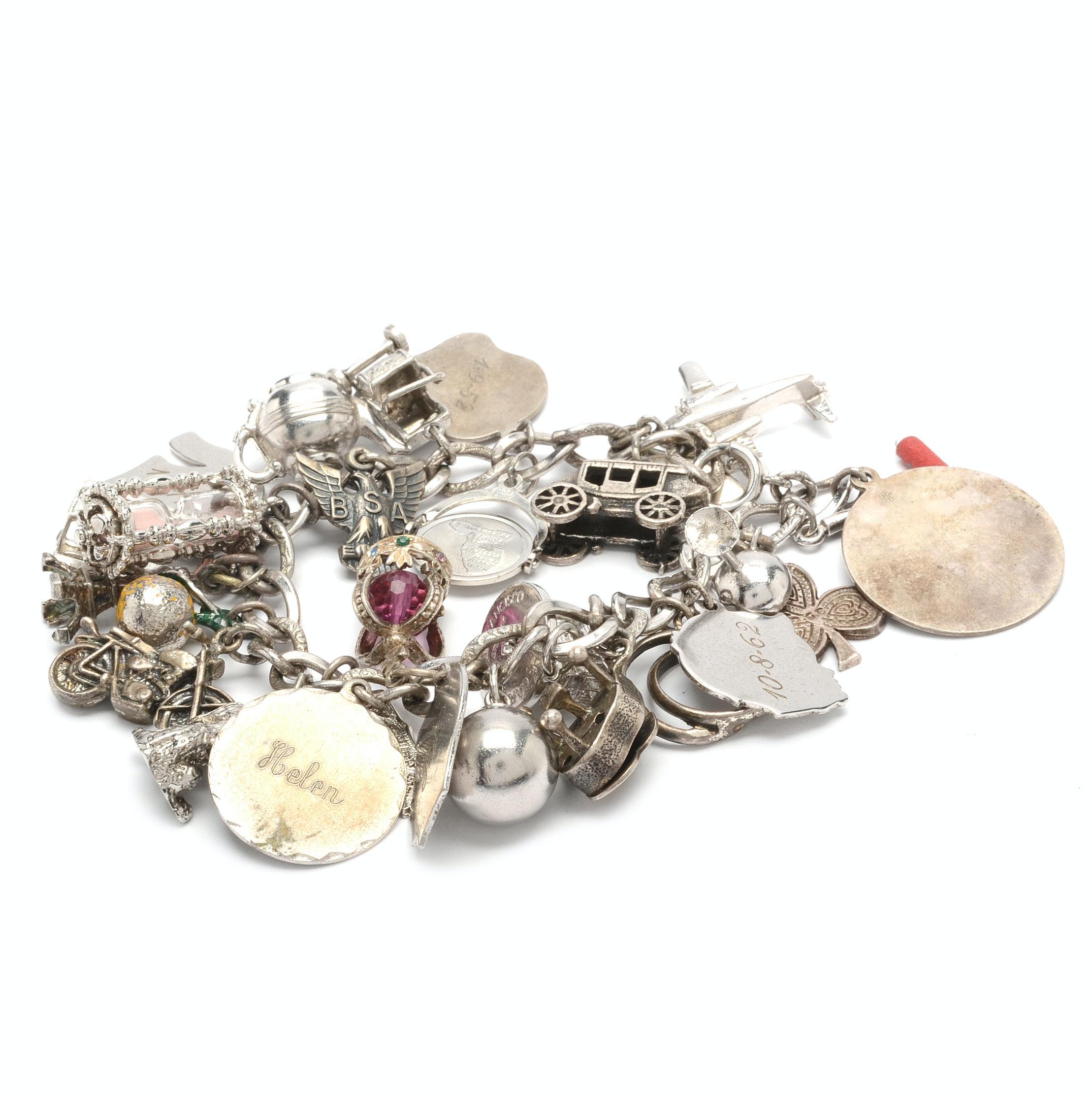 Sterling Silver LeStage Charm Bracelet