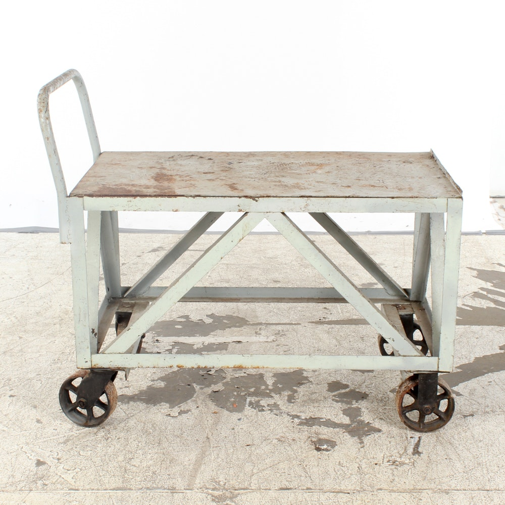 Industrial Table Cart