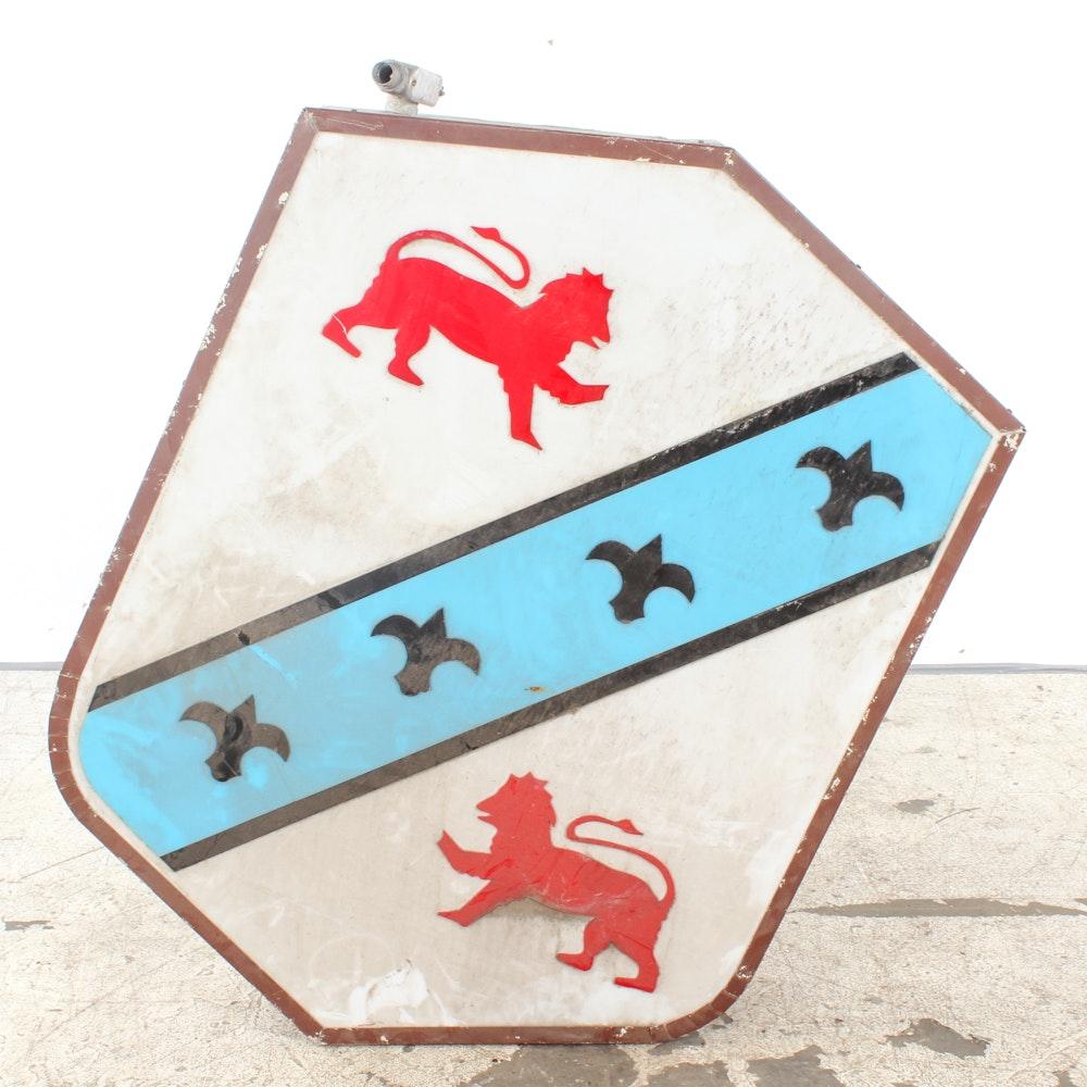 Vintage Heraldry Style Illuminated Sign