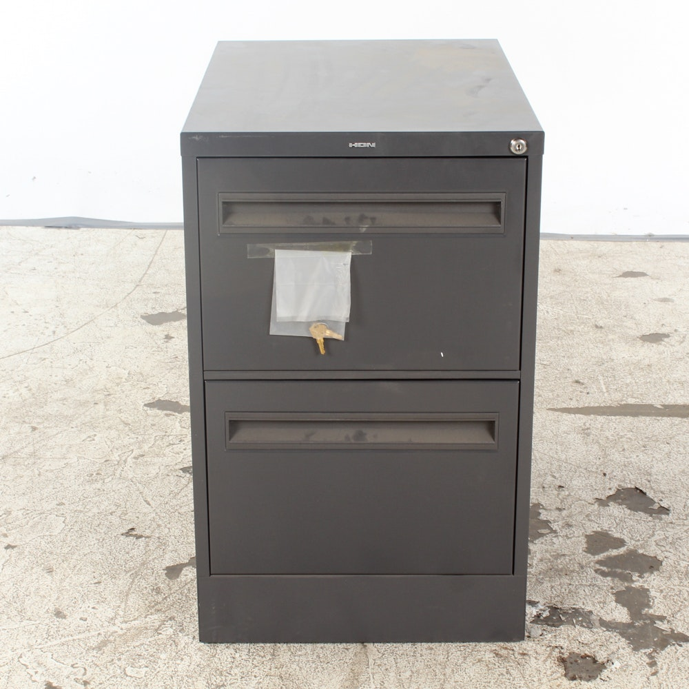 Metal Two Drawer File Cabinet by Hon