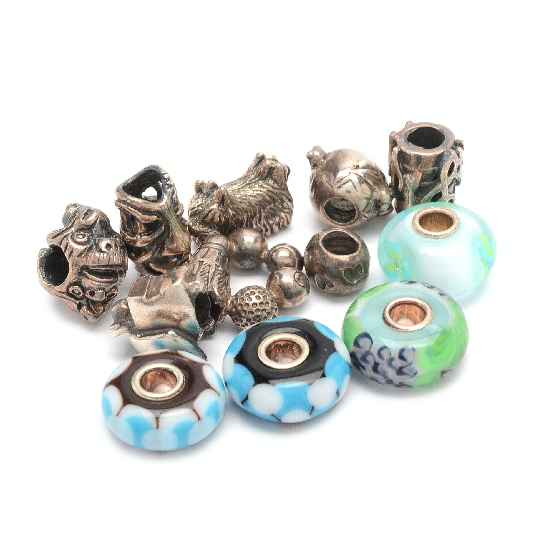 Trollbeads Handcrafted Sterling Silver and Art Glass Beads