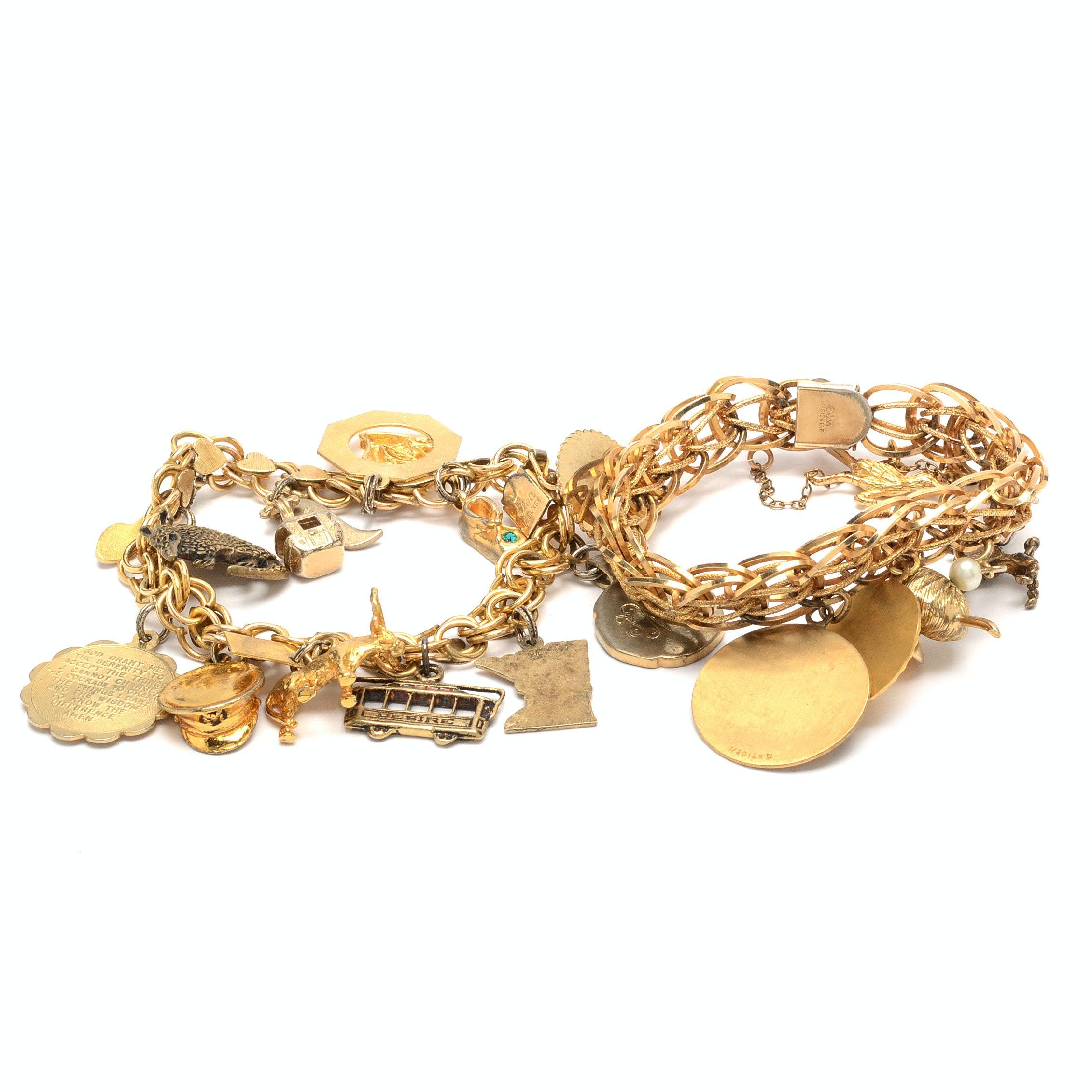 Gold Filled Charm Bracelets