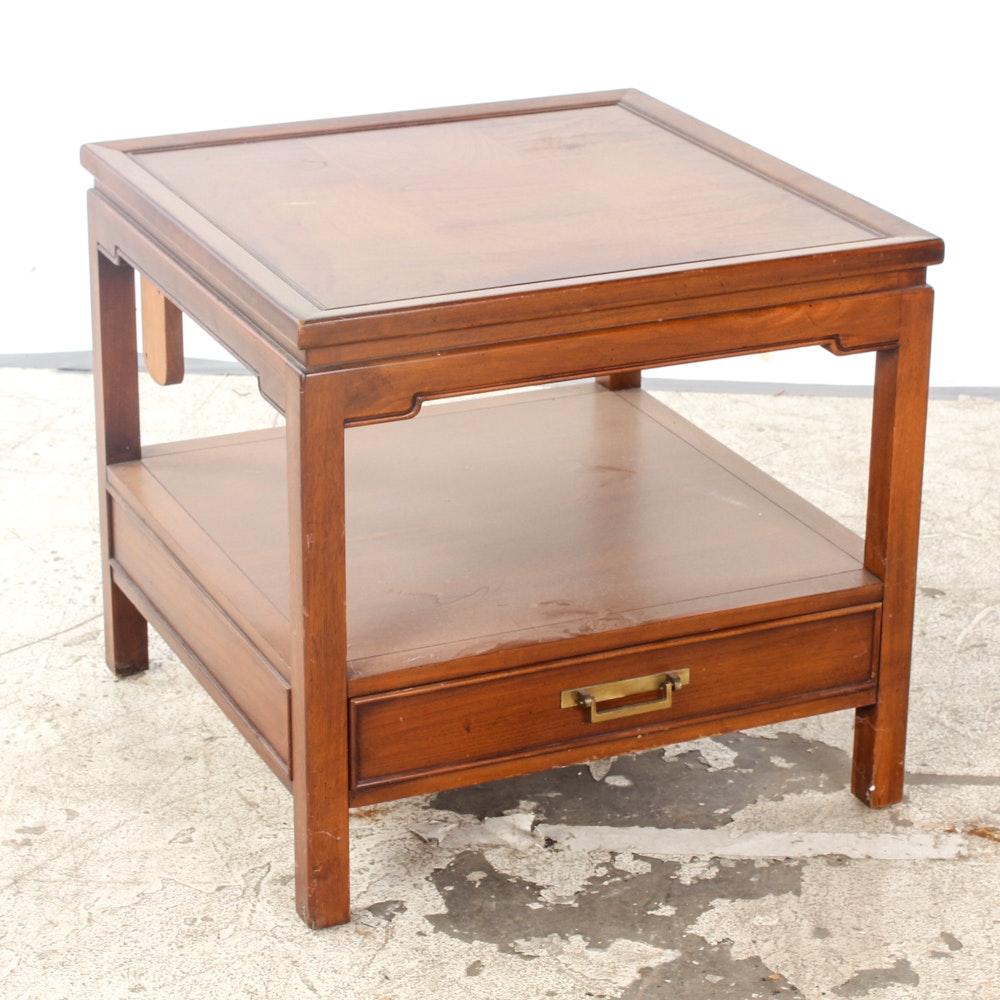 Vintage Oak Laminate Side Table