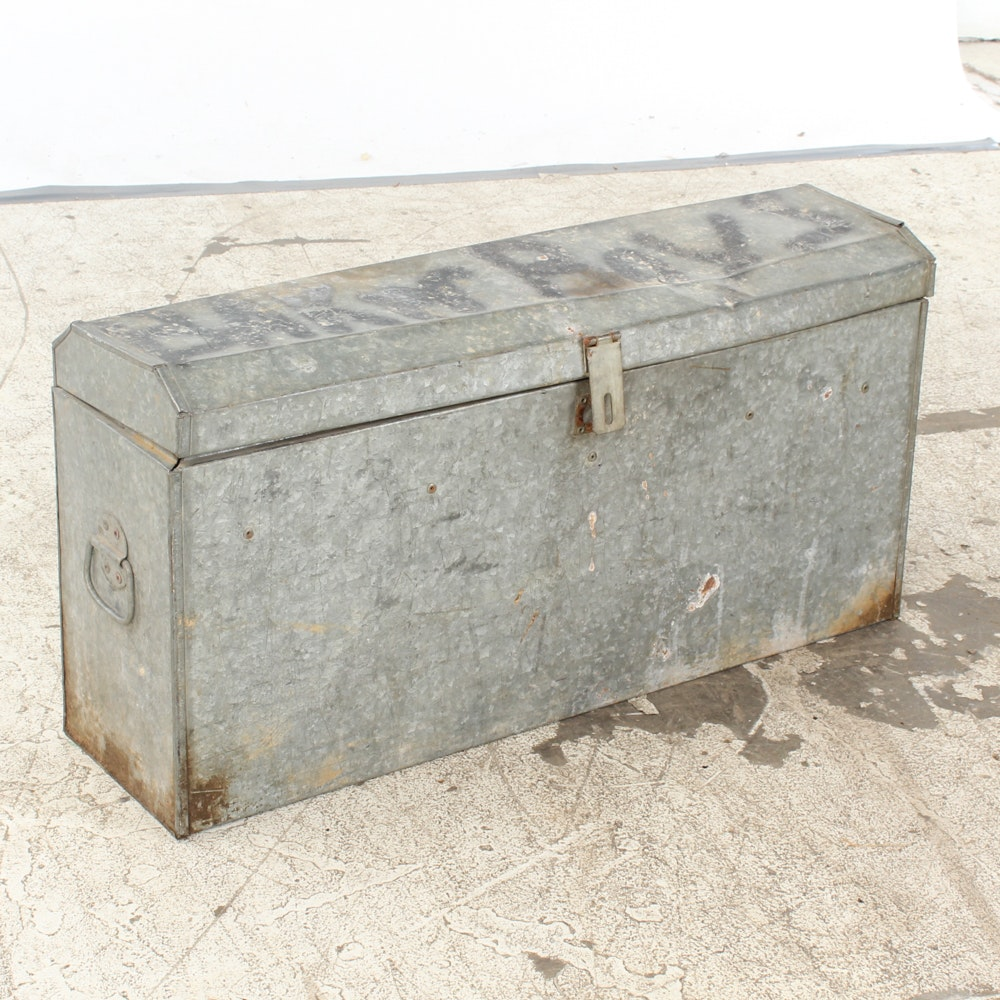 Oblong Galvanized Metal Box