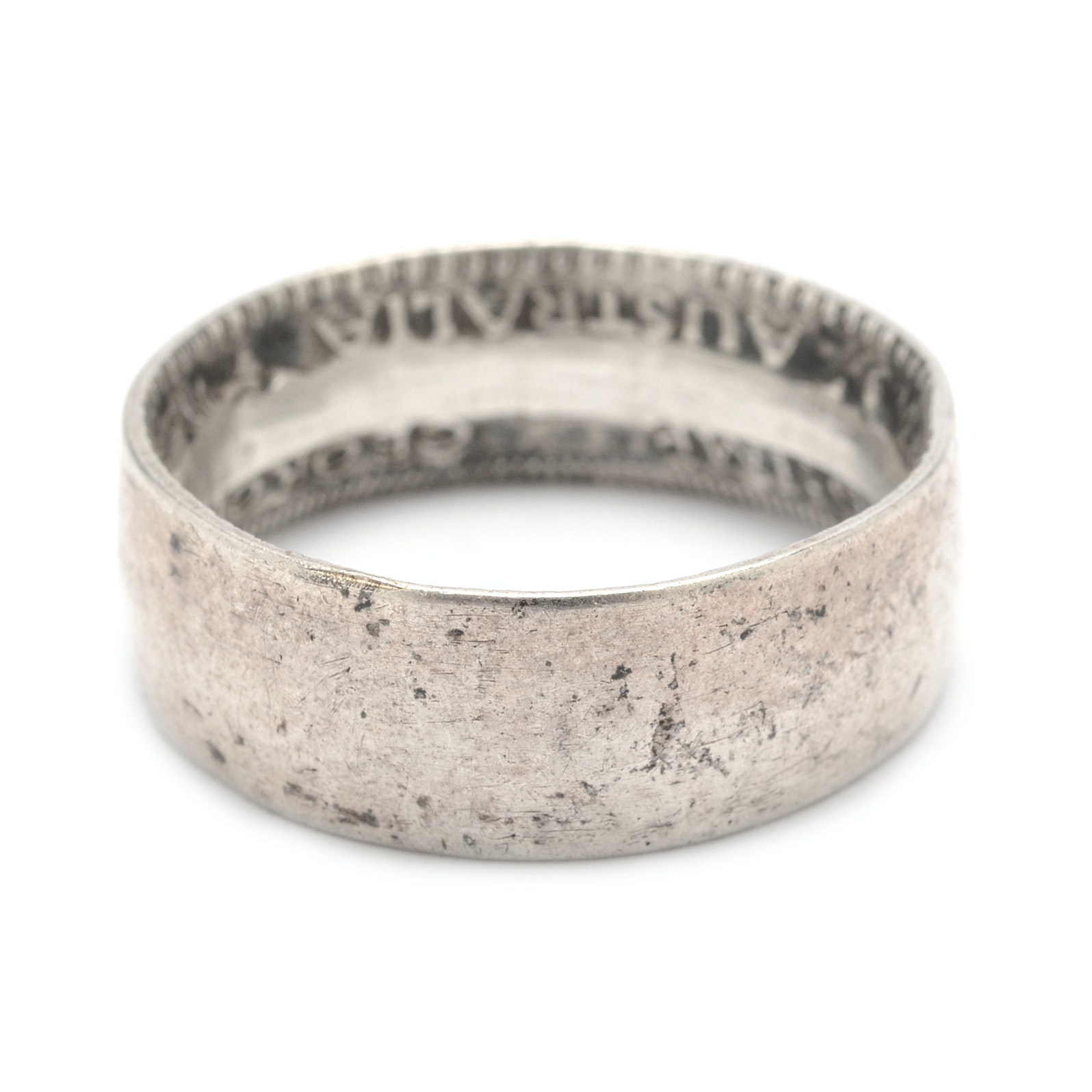 Sterling Silver Ring Made From Australian Florin Coin