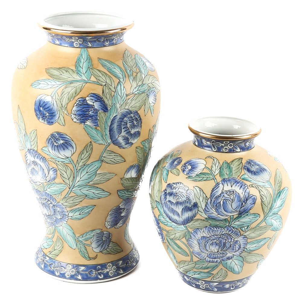 Hand Painted Chinese Porcelain Vases