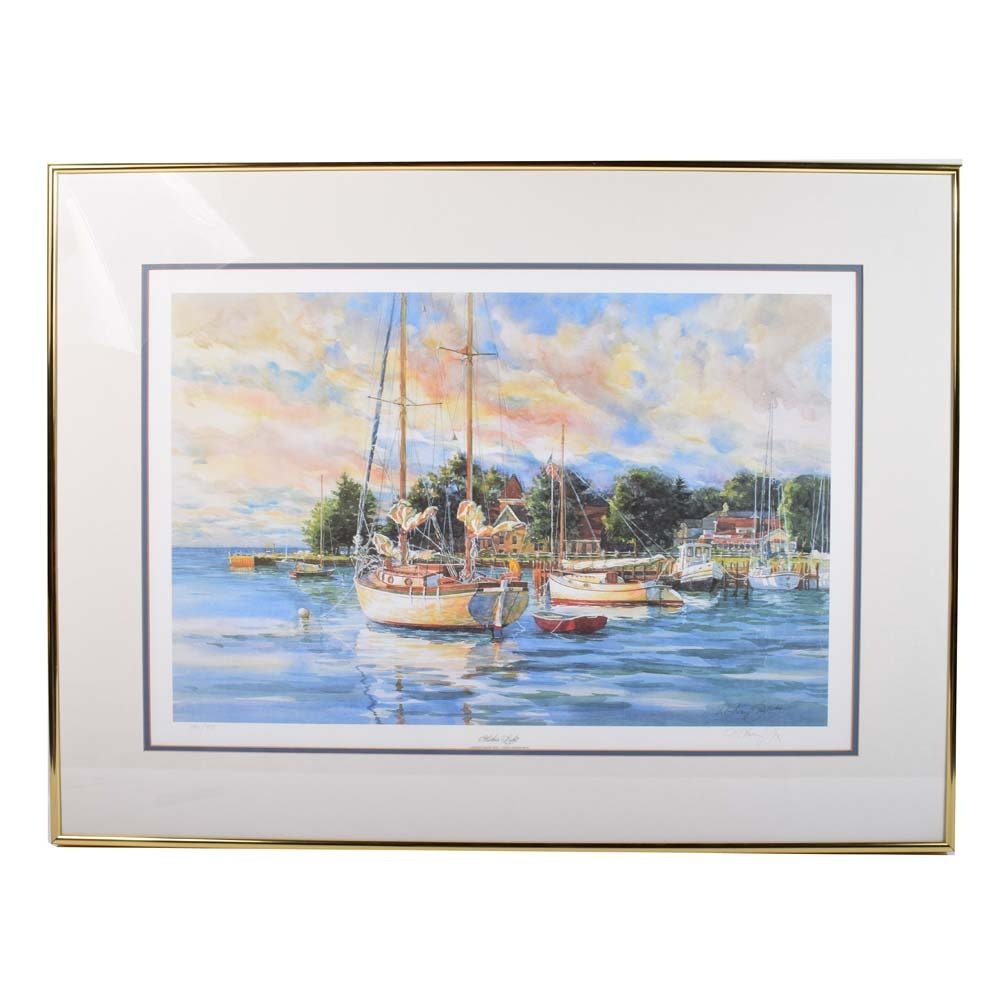 "Kathleen Chaney Fritz Signed Limited Edition Offset Lithograph ""Harbor Light"""