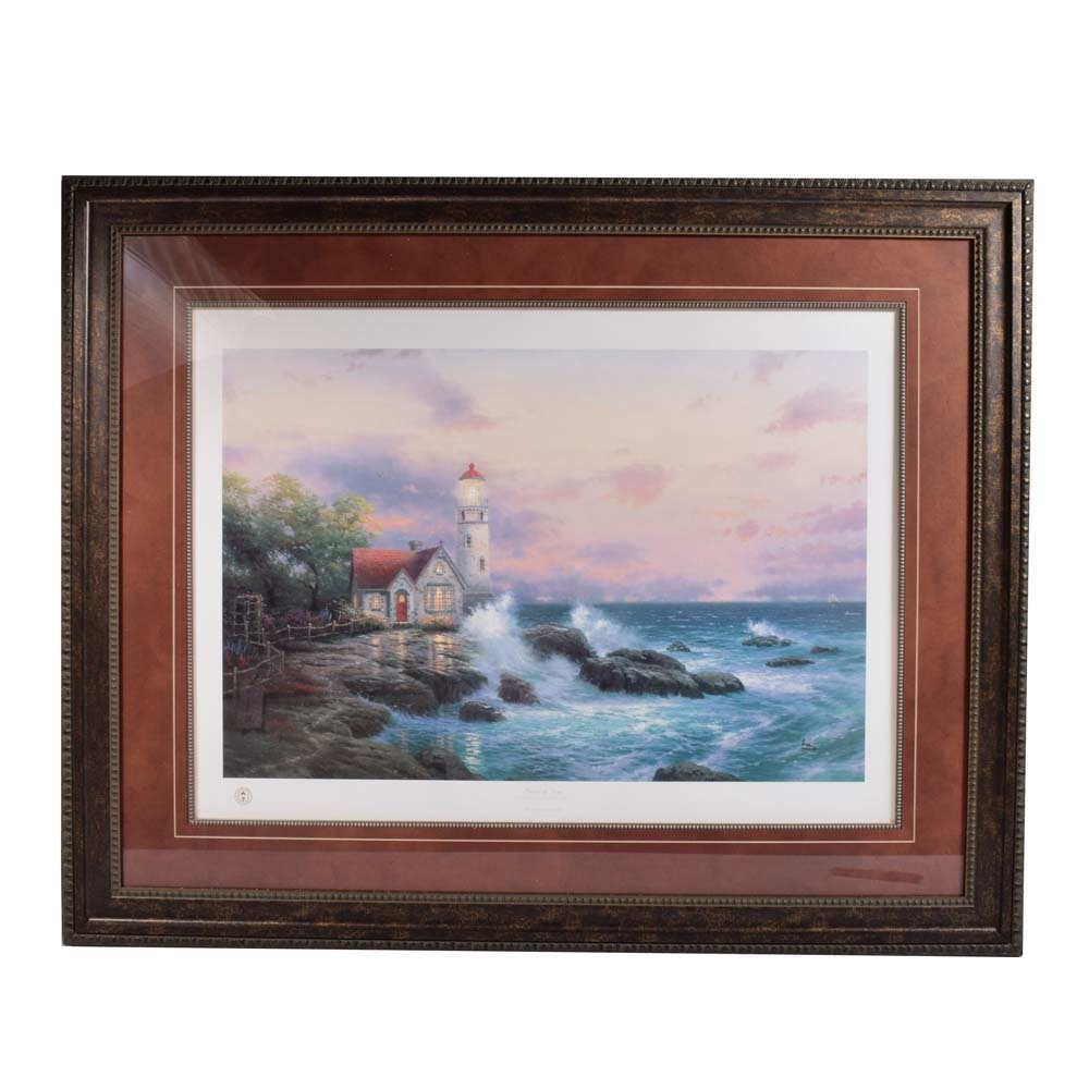 "Limited Edition Offset Lithograph After Thomas Kinkade ""Beacon of Hope"""
