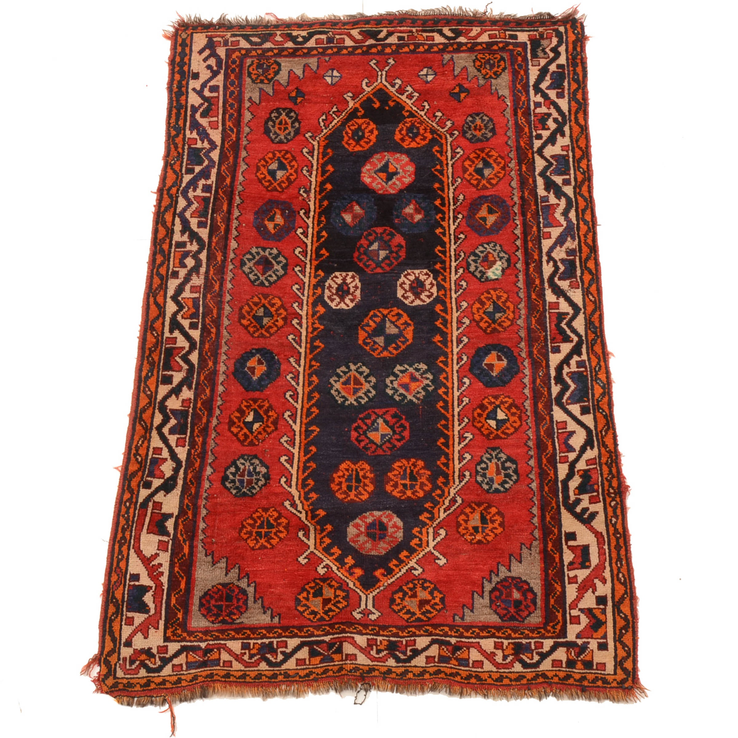 Vintage Hand-Knotted Anatolian Wool Area Rug
