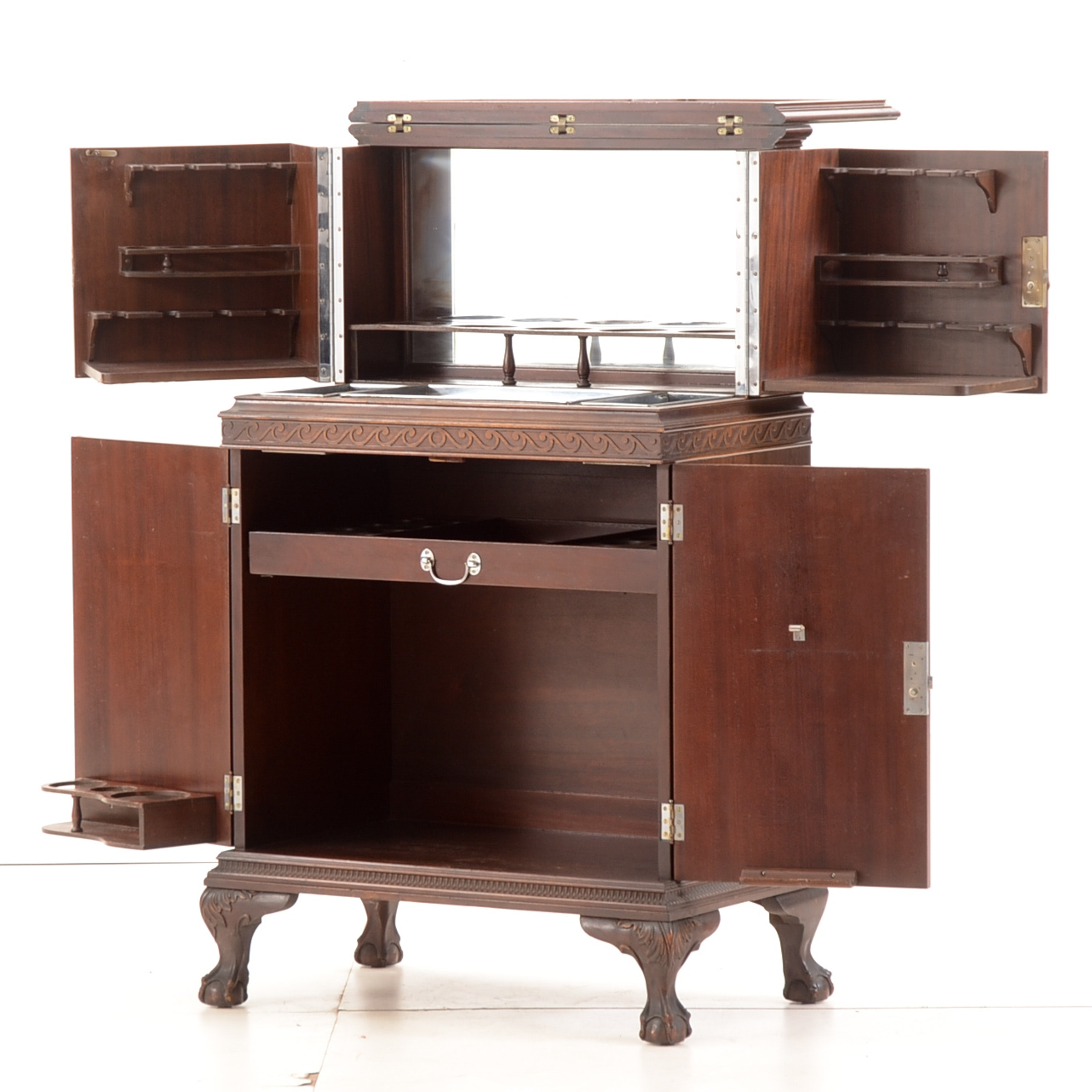 Vintage Mahogany Bar Cabinet