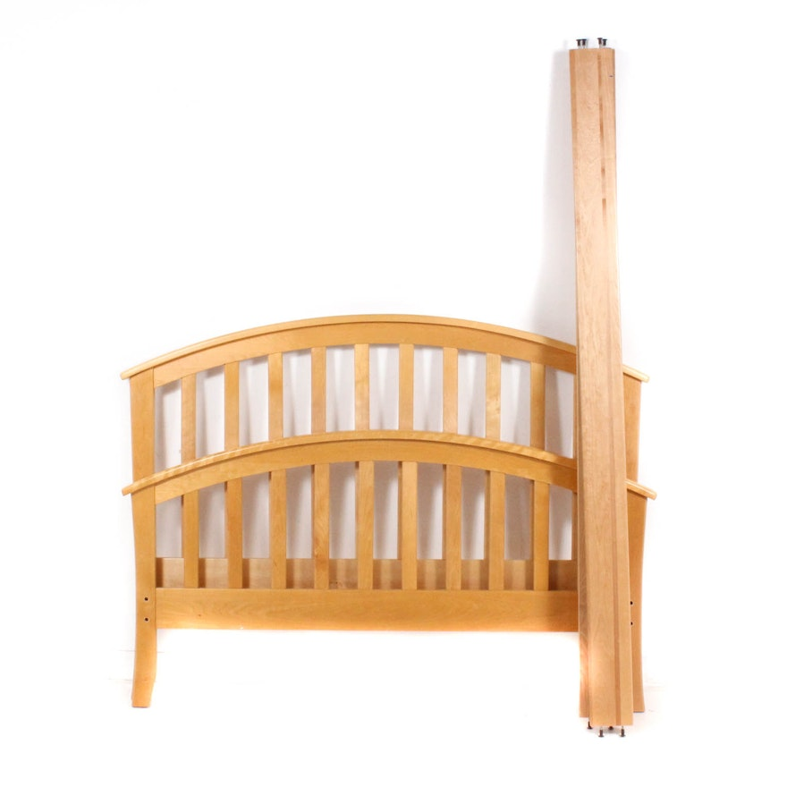 Blonde Maple Double Bed Frame