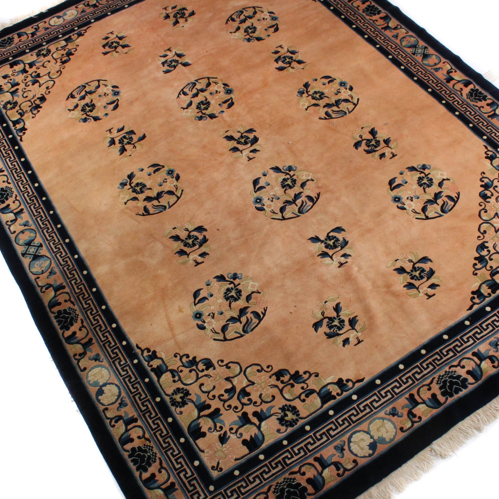 Power Loomed Chinese Medallion Area Rug