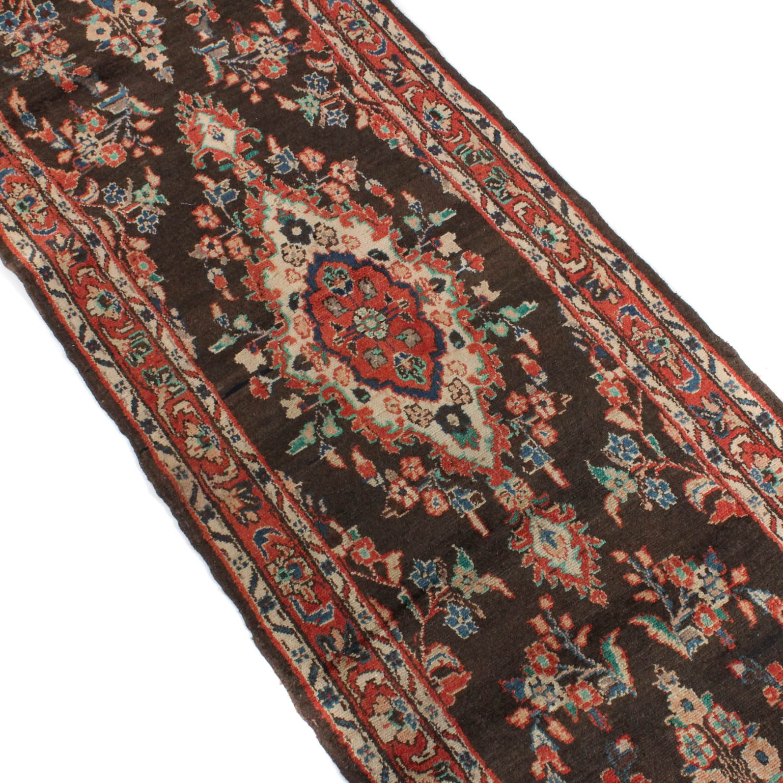 Vintage Hand-Knotted Persian Malayer Sarouk Runner