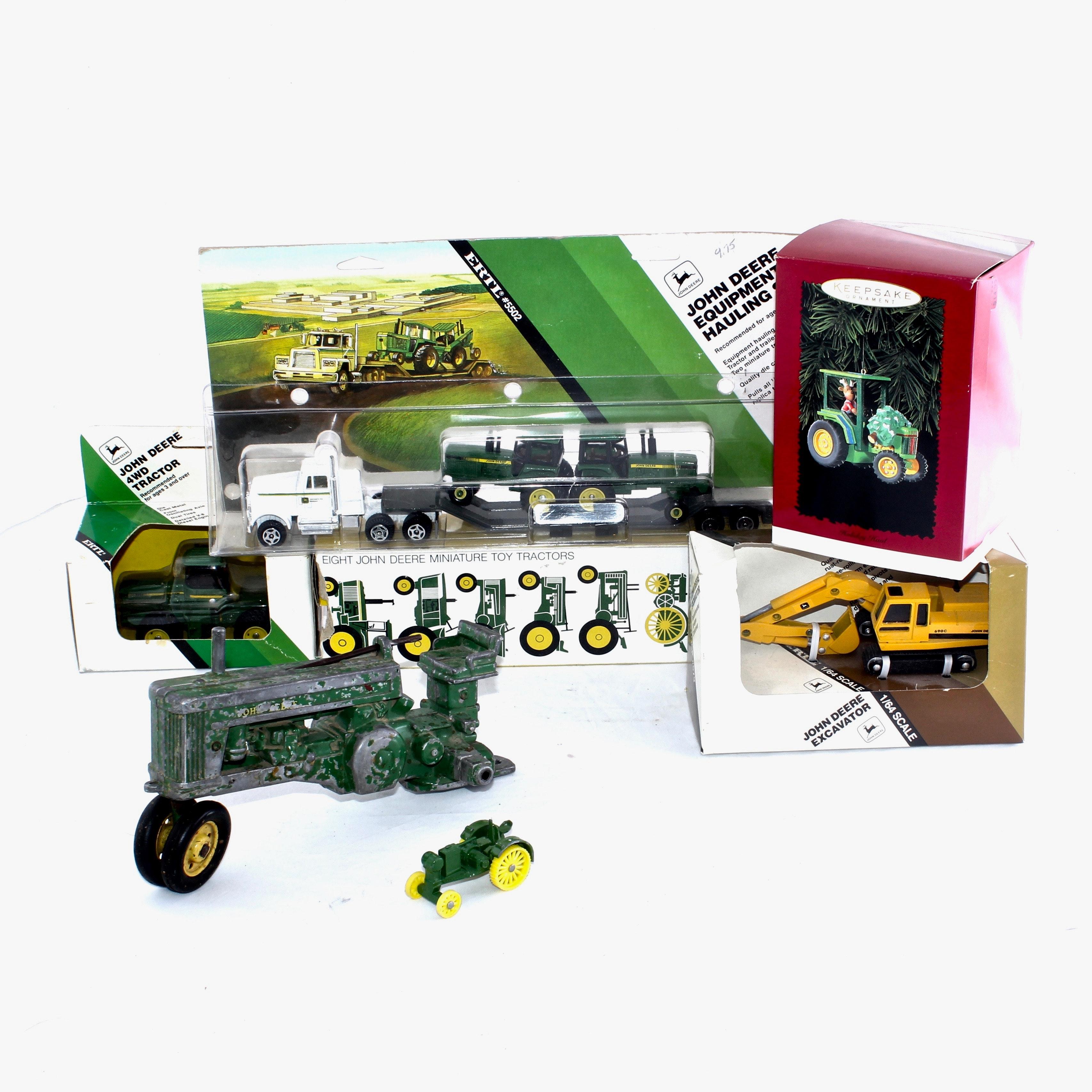 Vintage John Deere Miniature Die-Cast Vehicles
