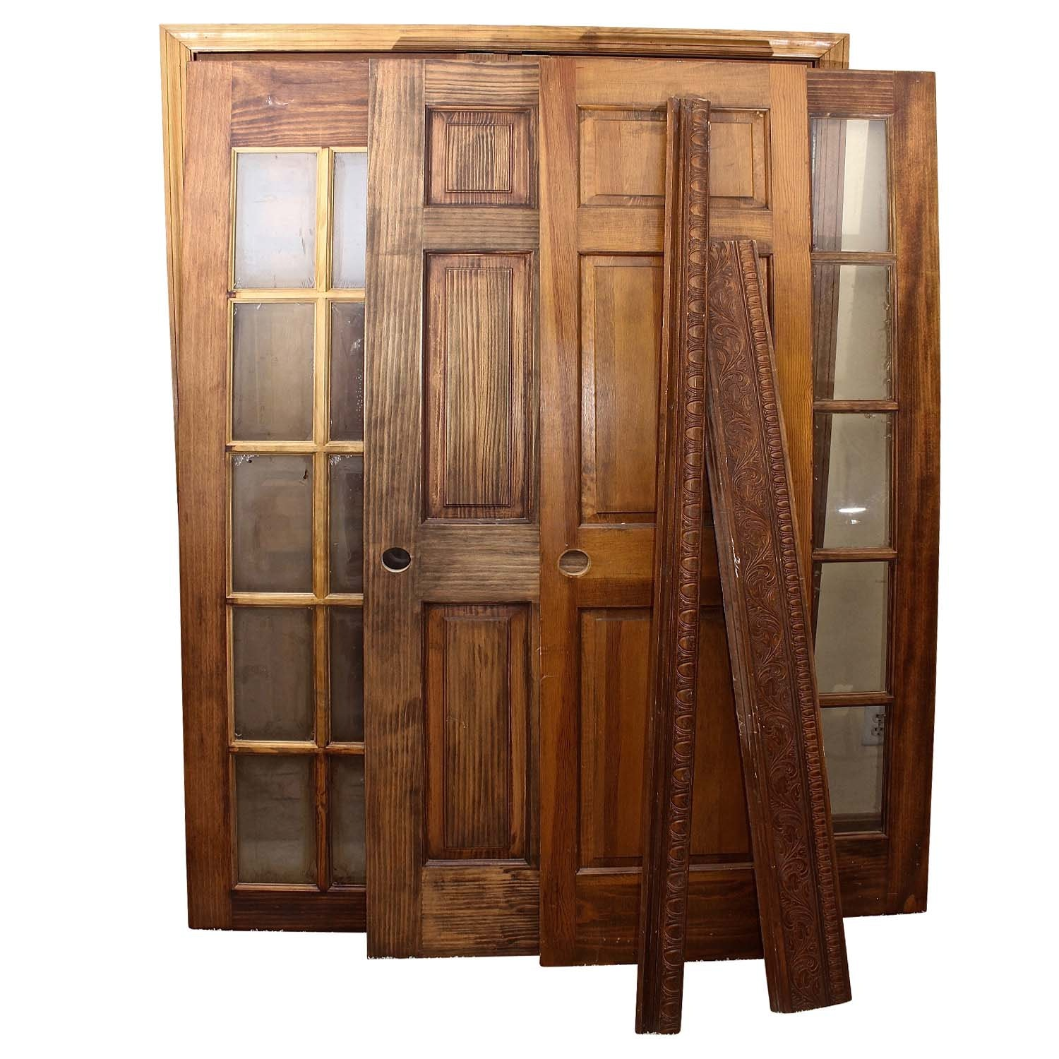 Solid Wood Doors And Decorative Crown Molding