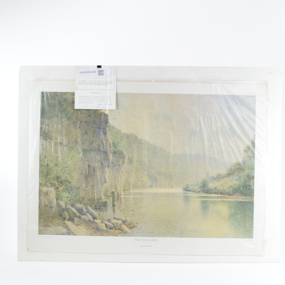 "Limited Edition Offset Lithograph After Paul Sawyier ""The Palisades"""