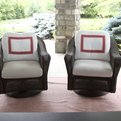 Living It Up Garden Furniture Patio and garden auctions ebth woven wicker style chairs workwithnaturefo