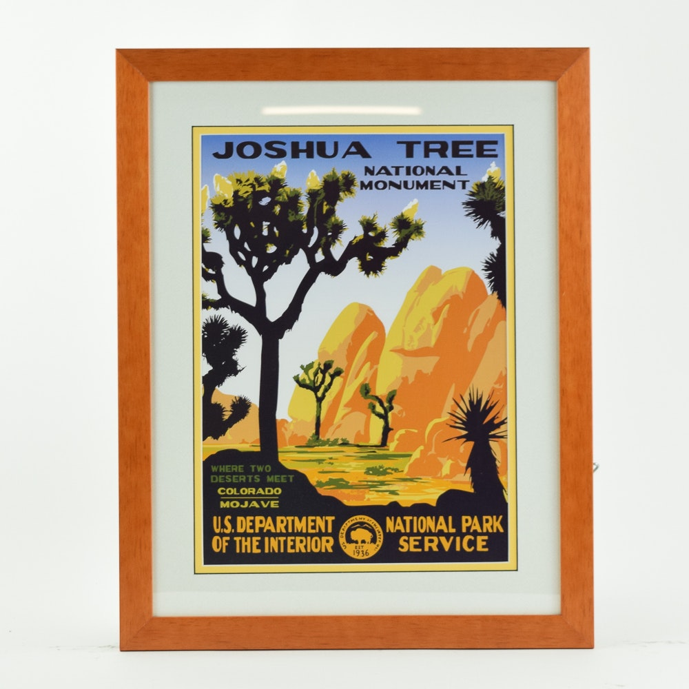 Offset Lithograph Travel Poster for Joshua Tree National Monument