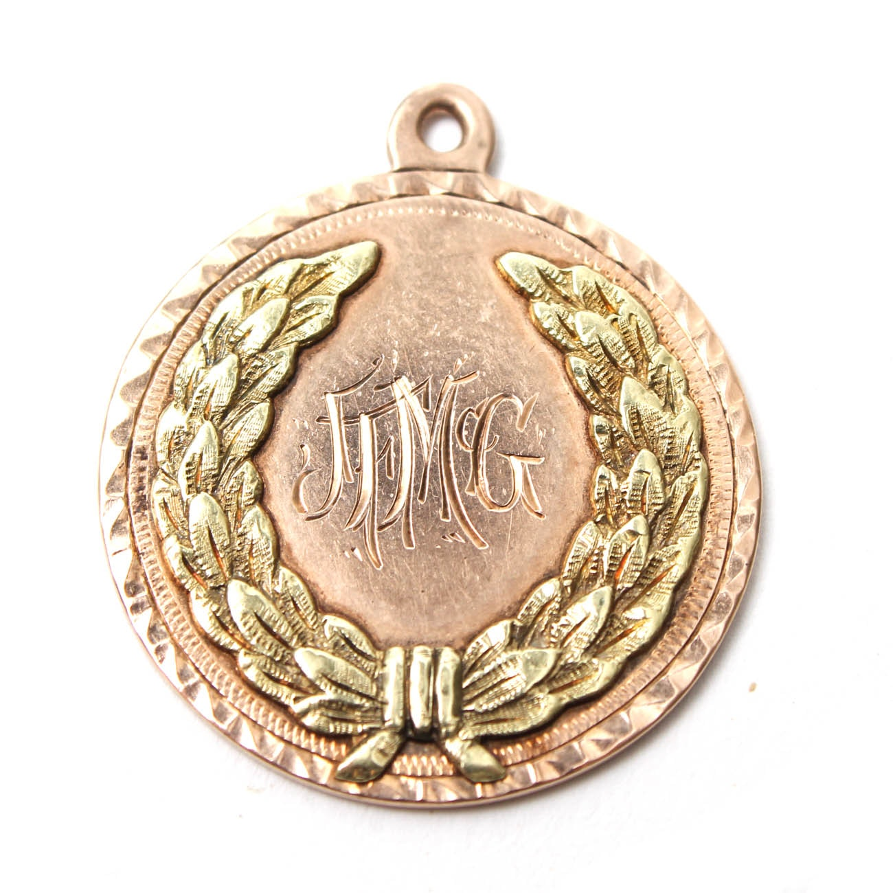 10K Two Tone Gold Charm