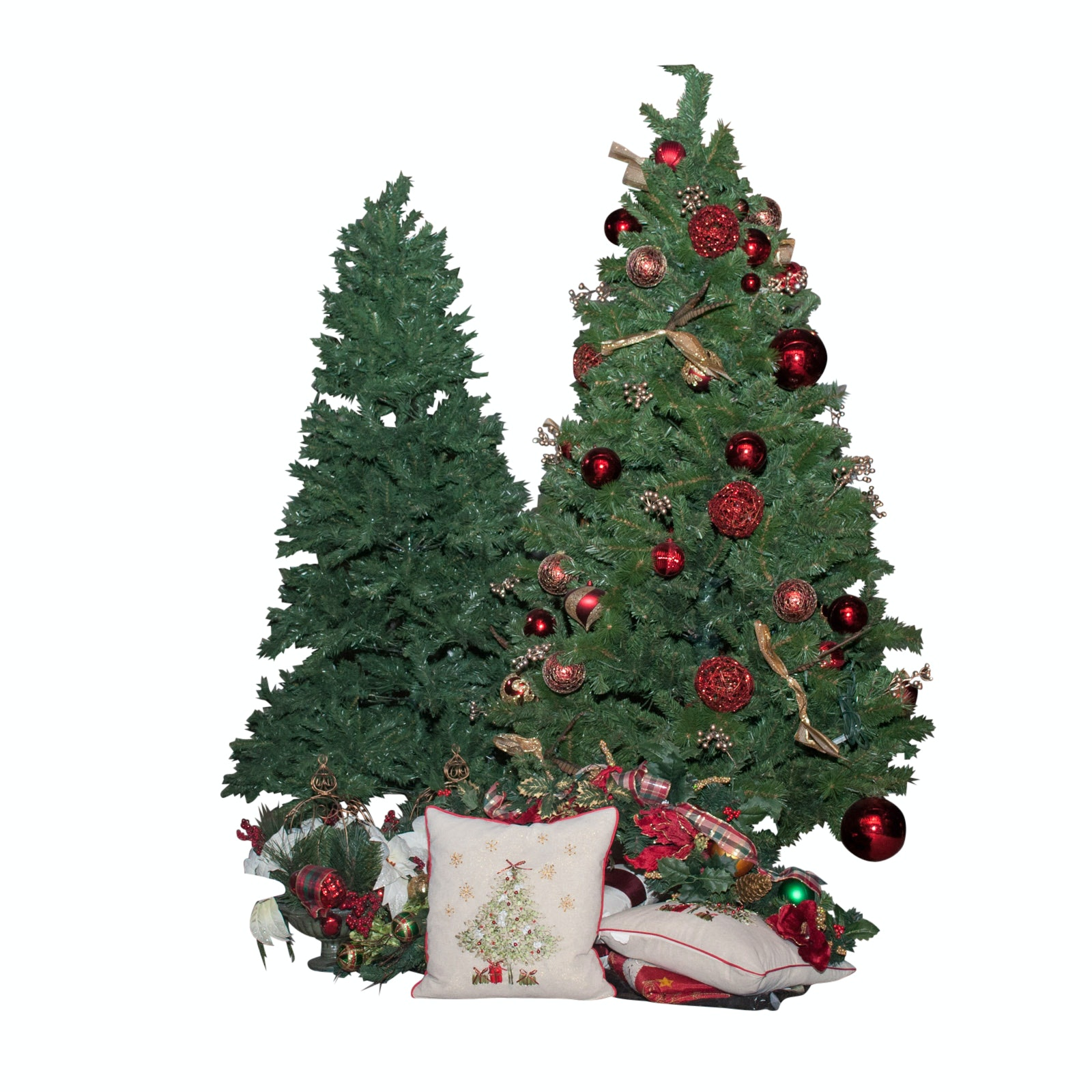 Christmas Décor Including Full-Size Trees