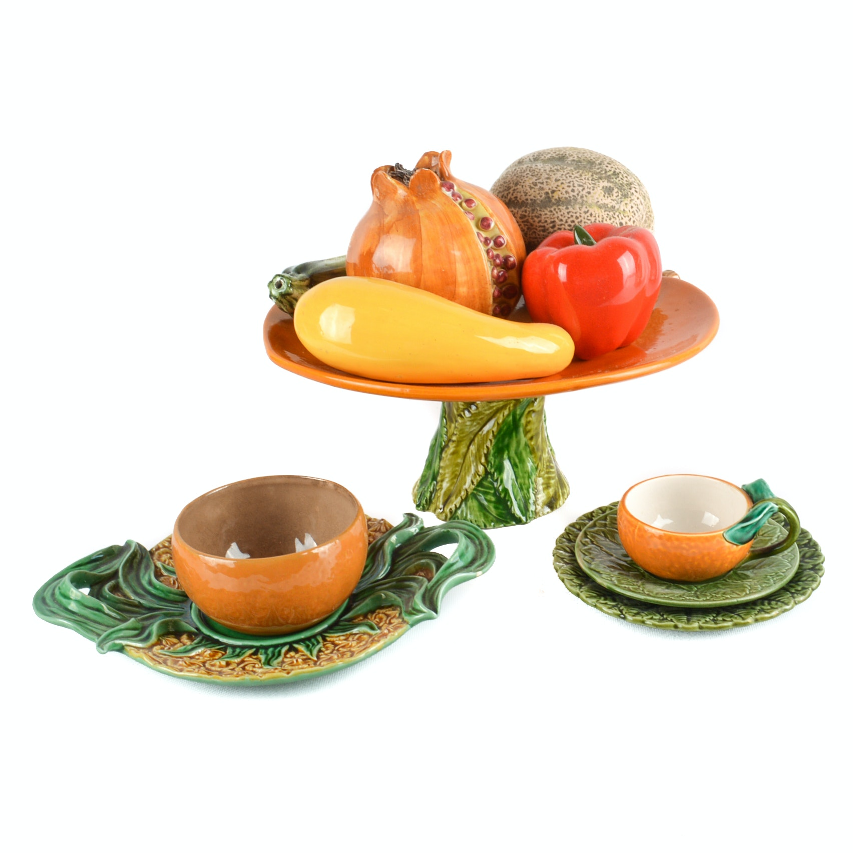 Sarreguemines Majolica Ceramic Decorative Tableware