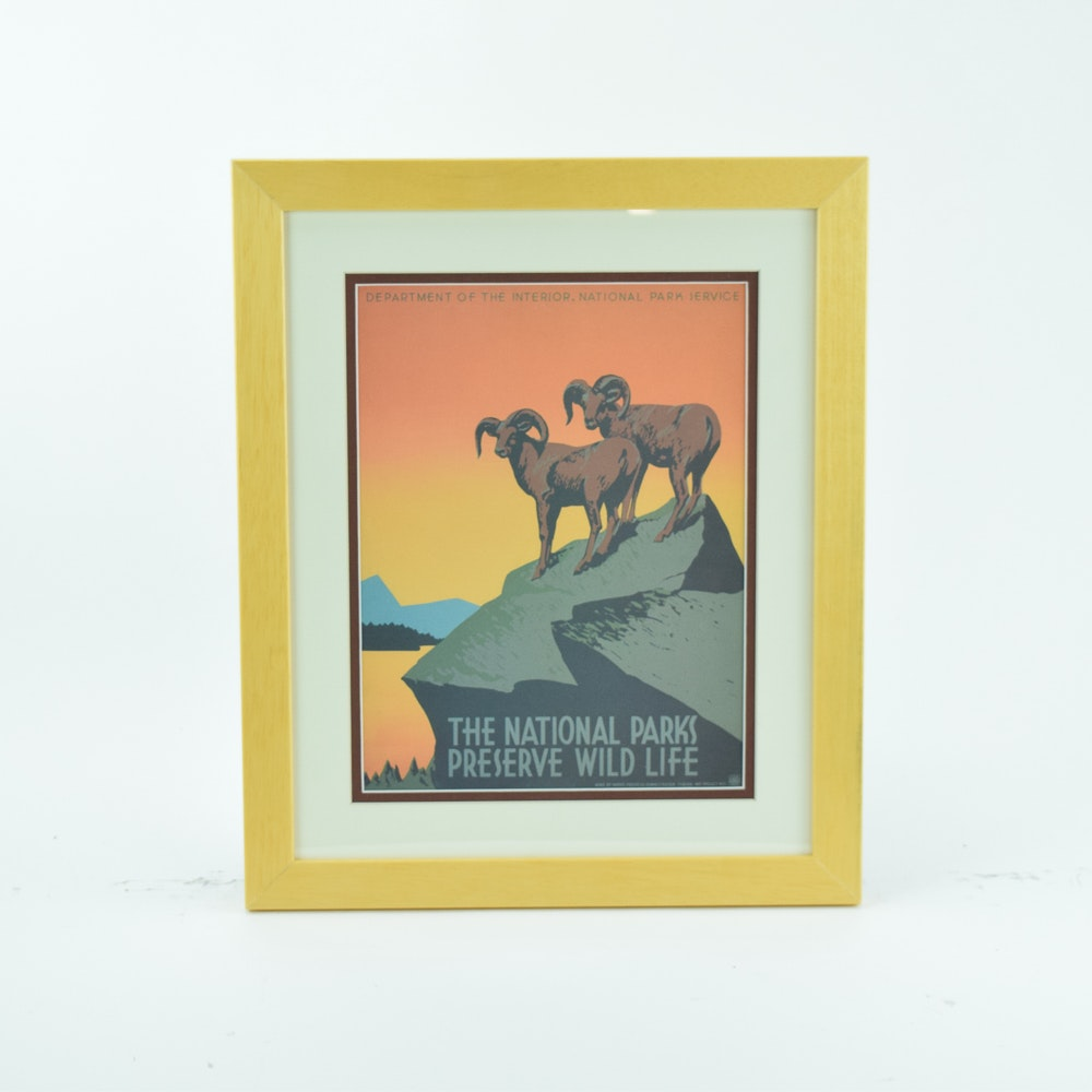 Offset Lithograph After a Vintage Travel Poster for the National Parks Service