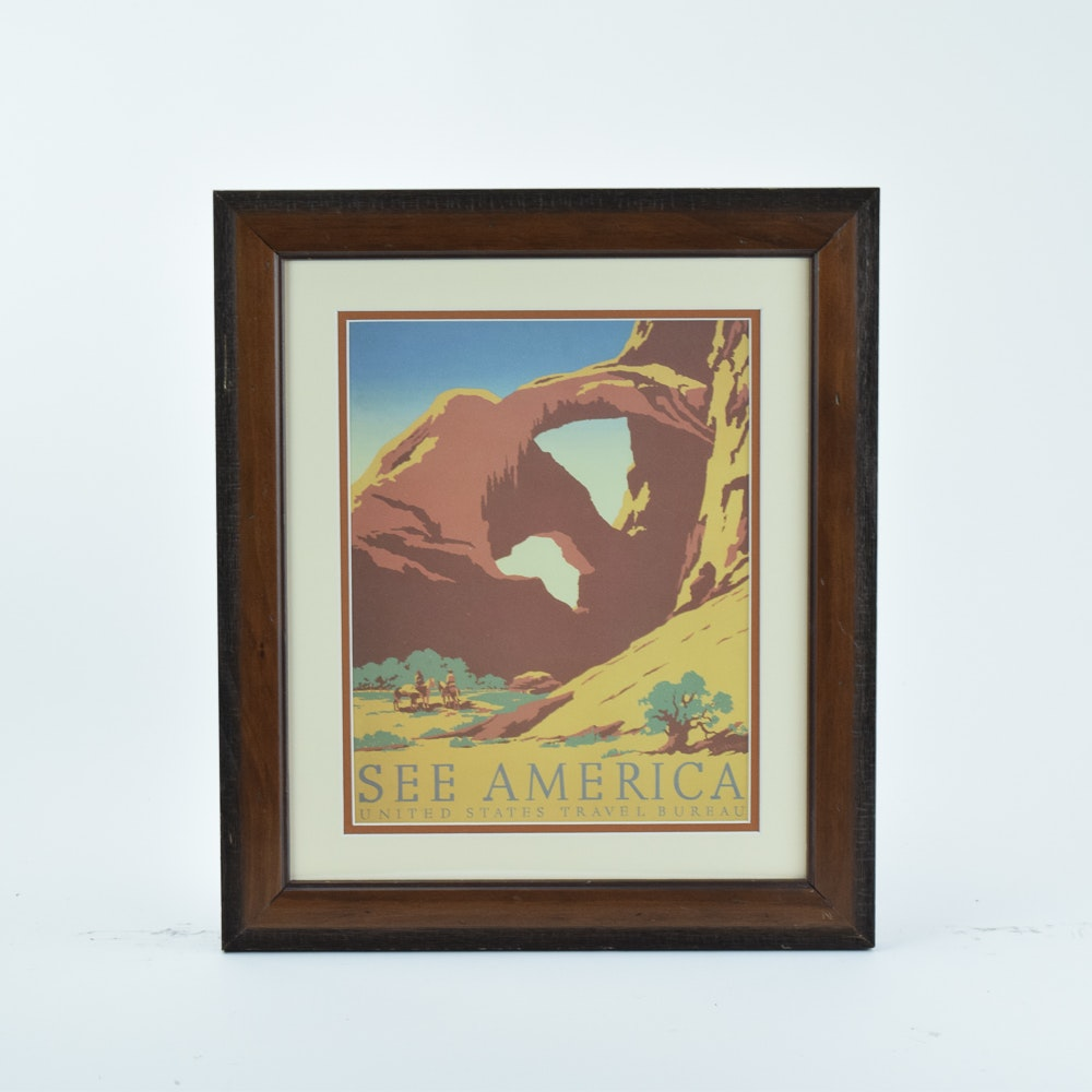 Offset Lithograph After Travel Poster for Arches National Park