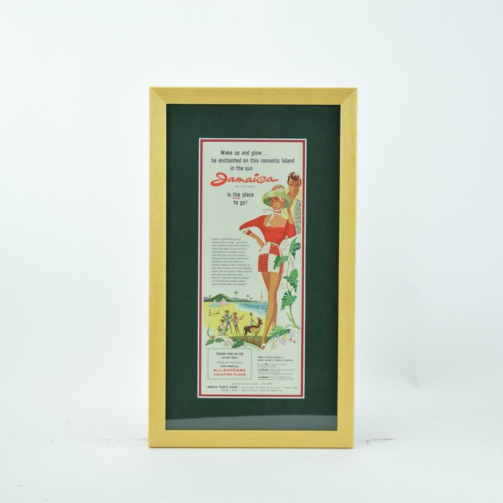 Circa 1950s Travel Advertisement for Jamaica-West Indies