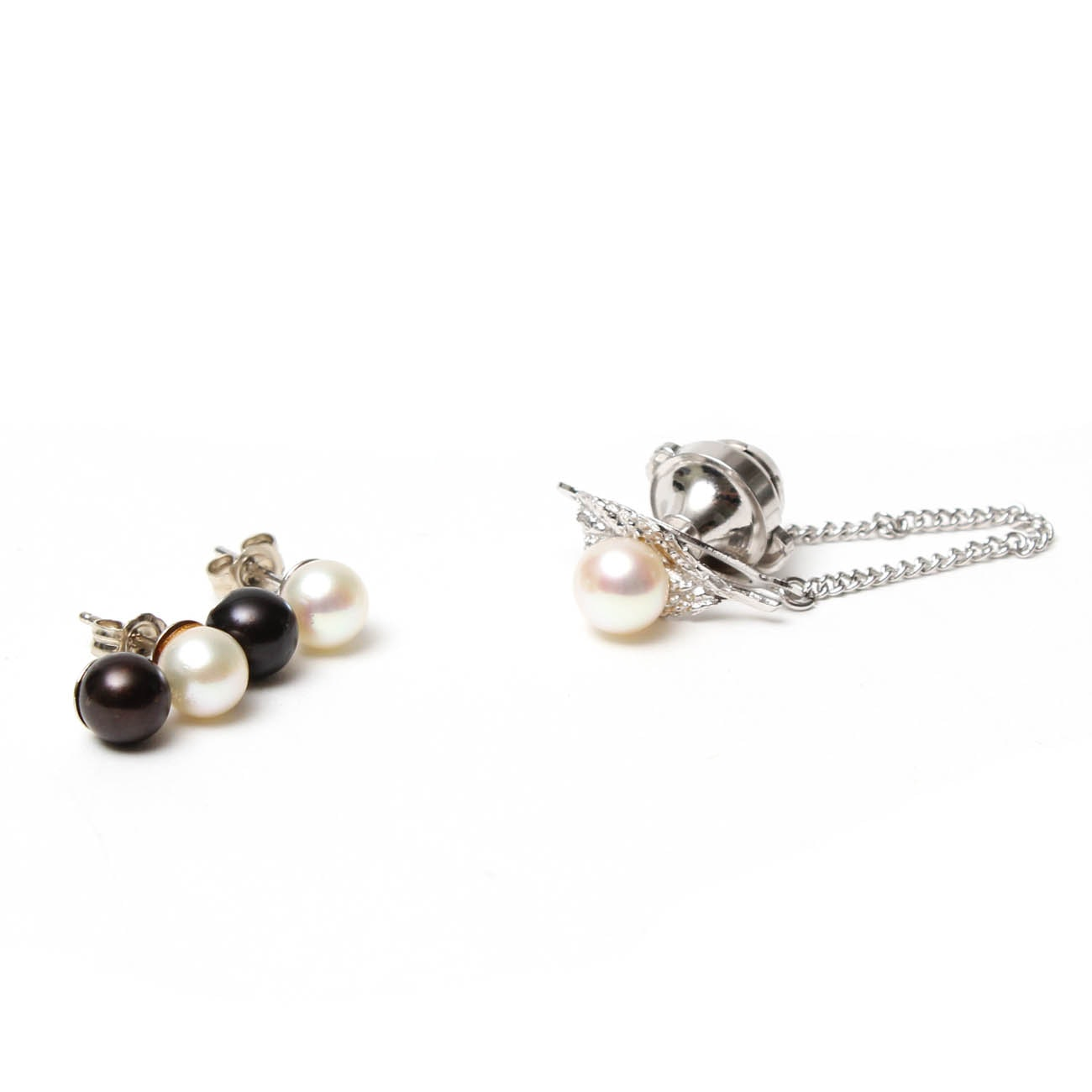 10K and 14K White Gold Cultured Pearl Jewelry