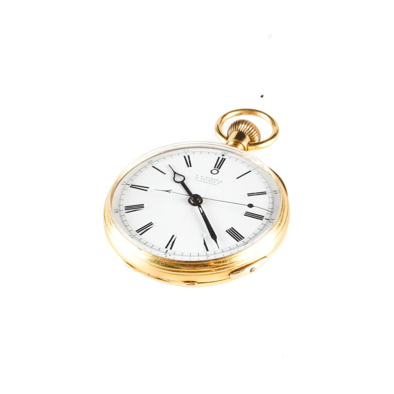 14K Yellow Gold T.R. Russell Pocket Watch