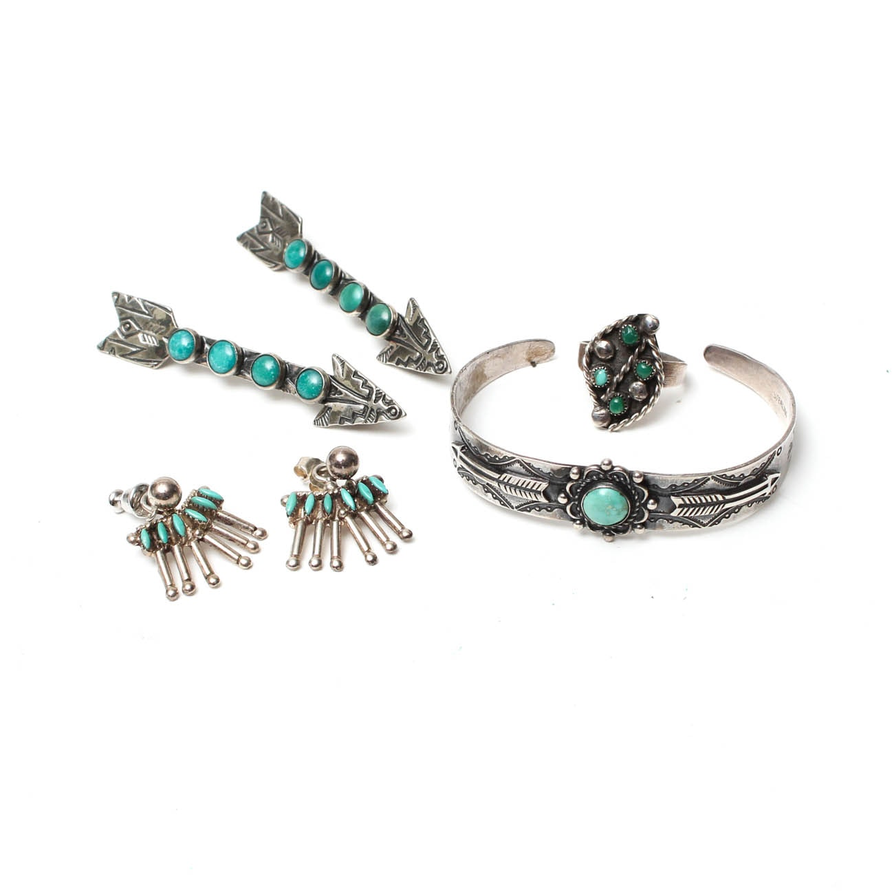Sterling Silver Southwestern Style Turquoise Jewelry
