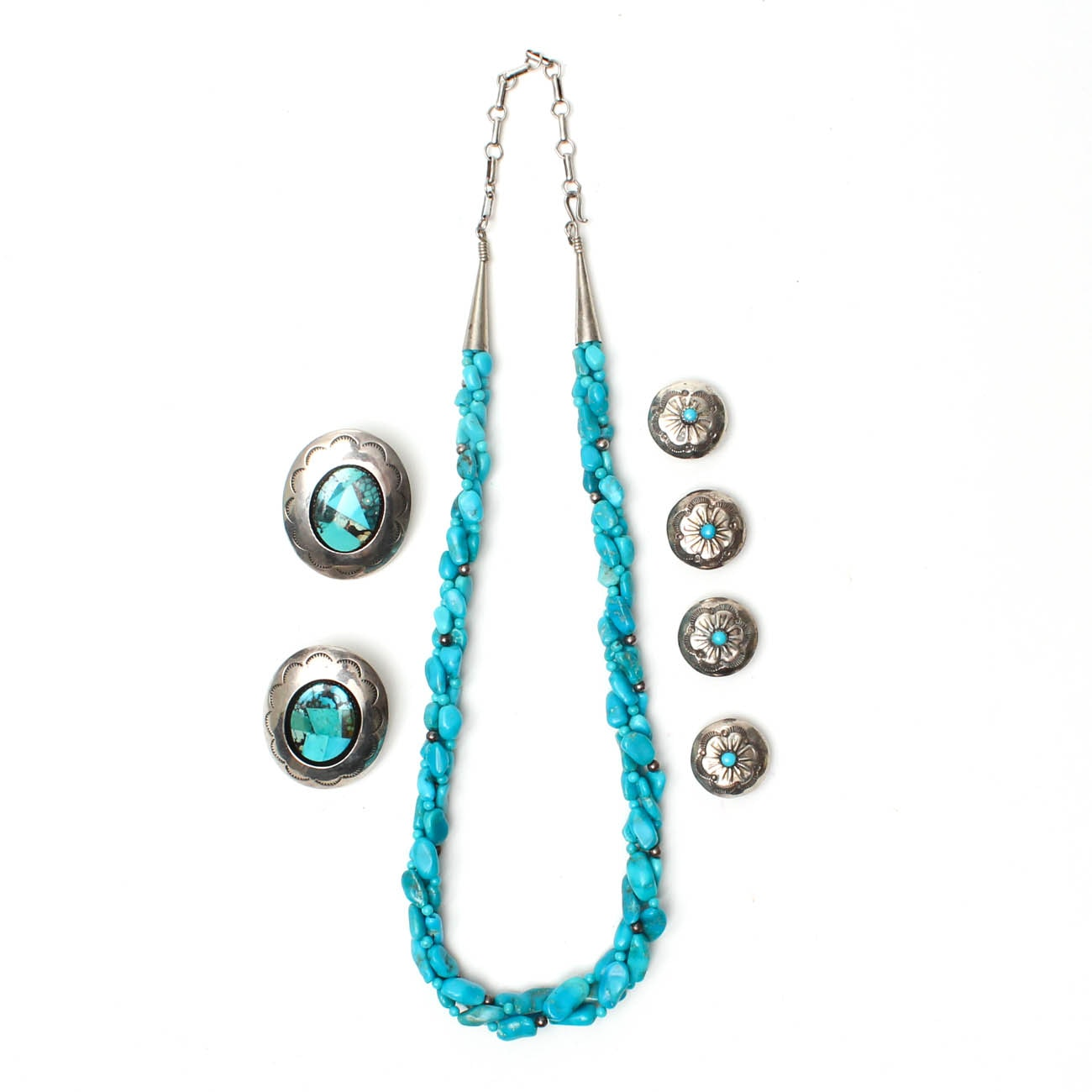 Sterling Silver Southwest Style Turquoise Jewelry