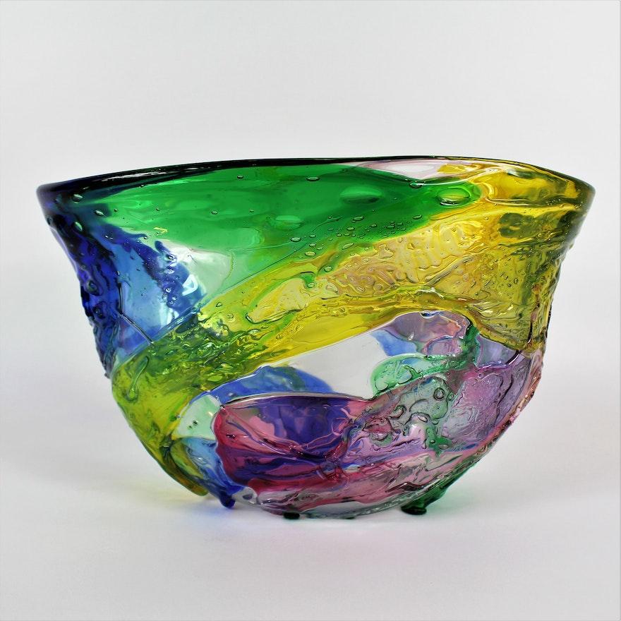 Bucella Cristalli Murano Glass Bowl Ebth