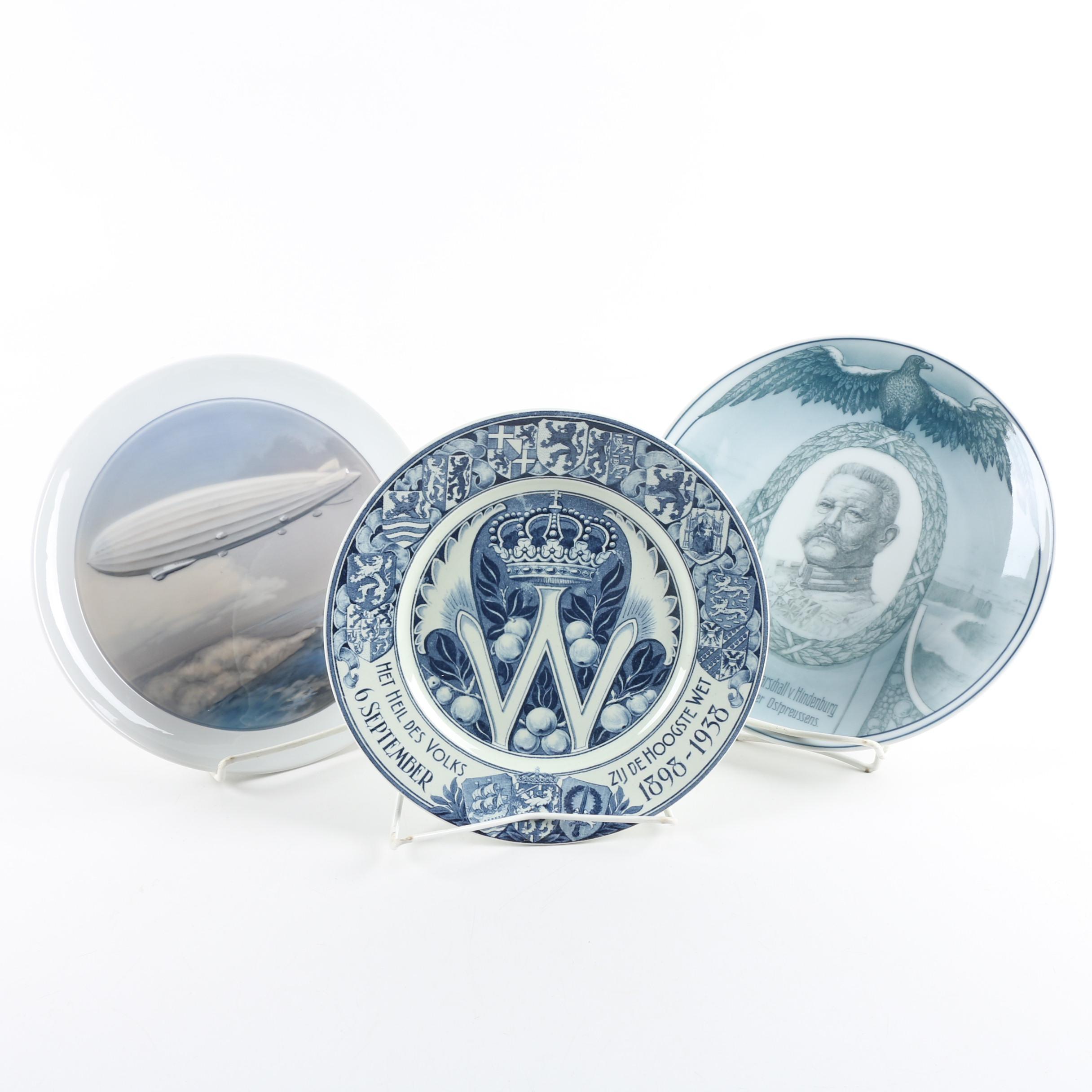 Commemorative WWI Porcelain Plates