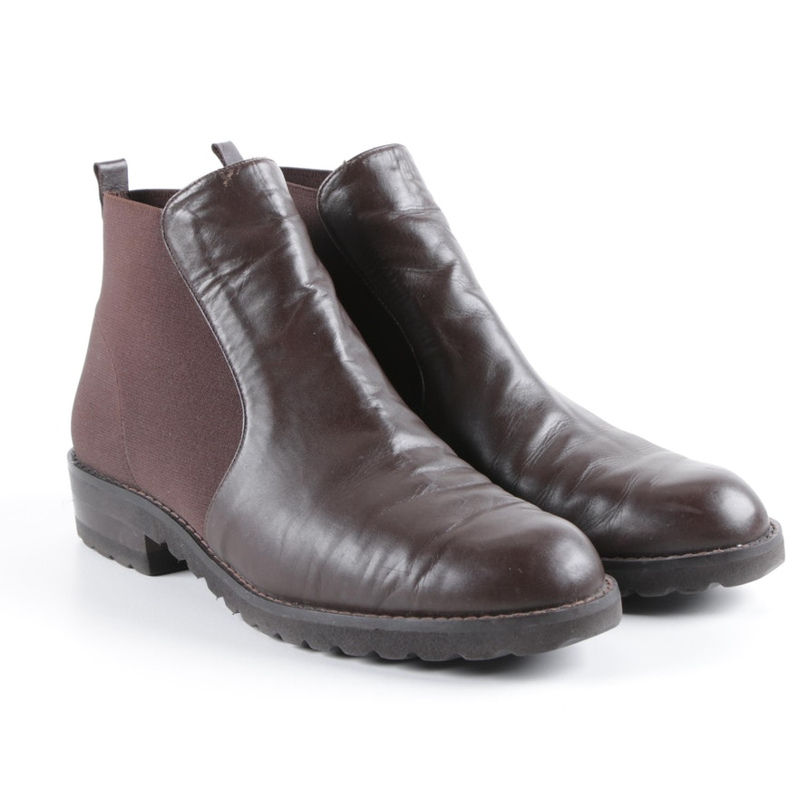 bb32d69c5b0 Women s Paul Mayer Brown Leather and Nylon Booties   EBTH