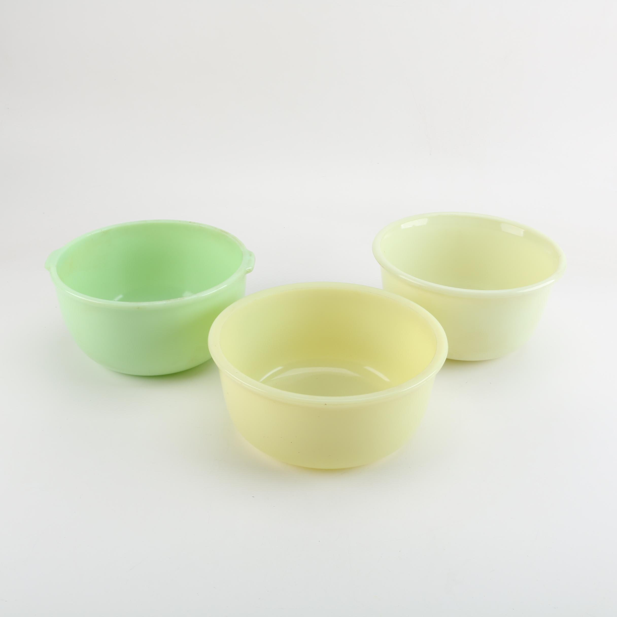 Vintage Glass Mixing Bowls