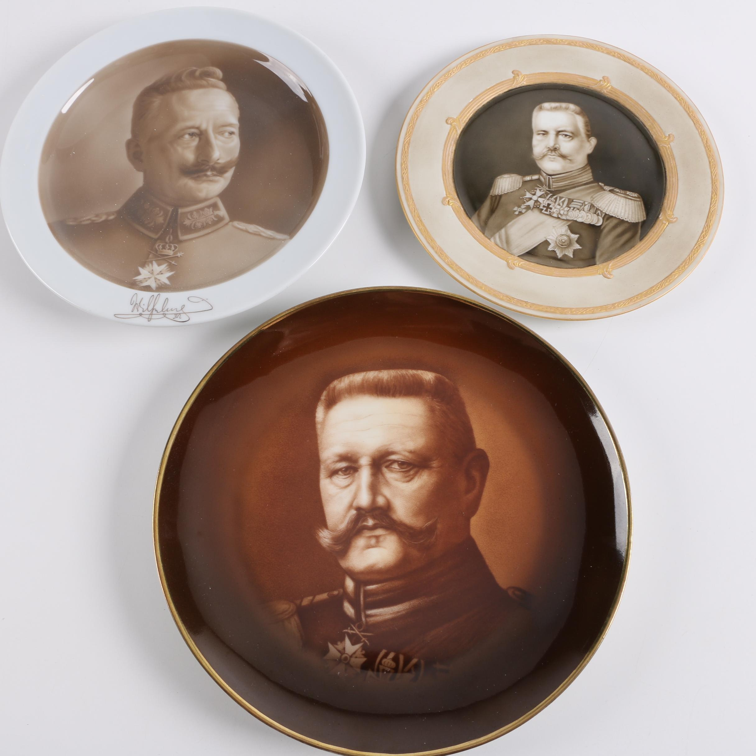 Antique Porcelain World War One Commemorative Plates Including KPM