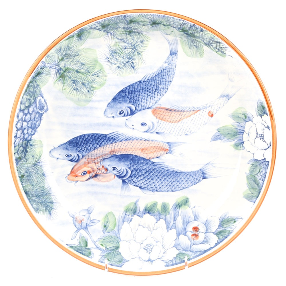 Japanese Ceramic Koi Fish Bowl
