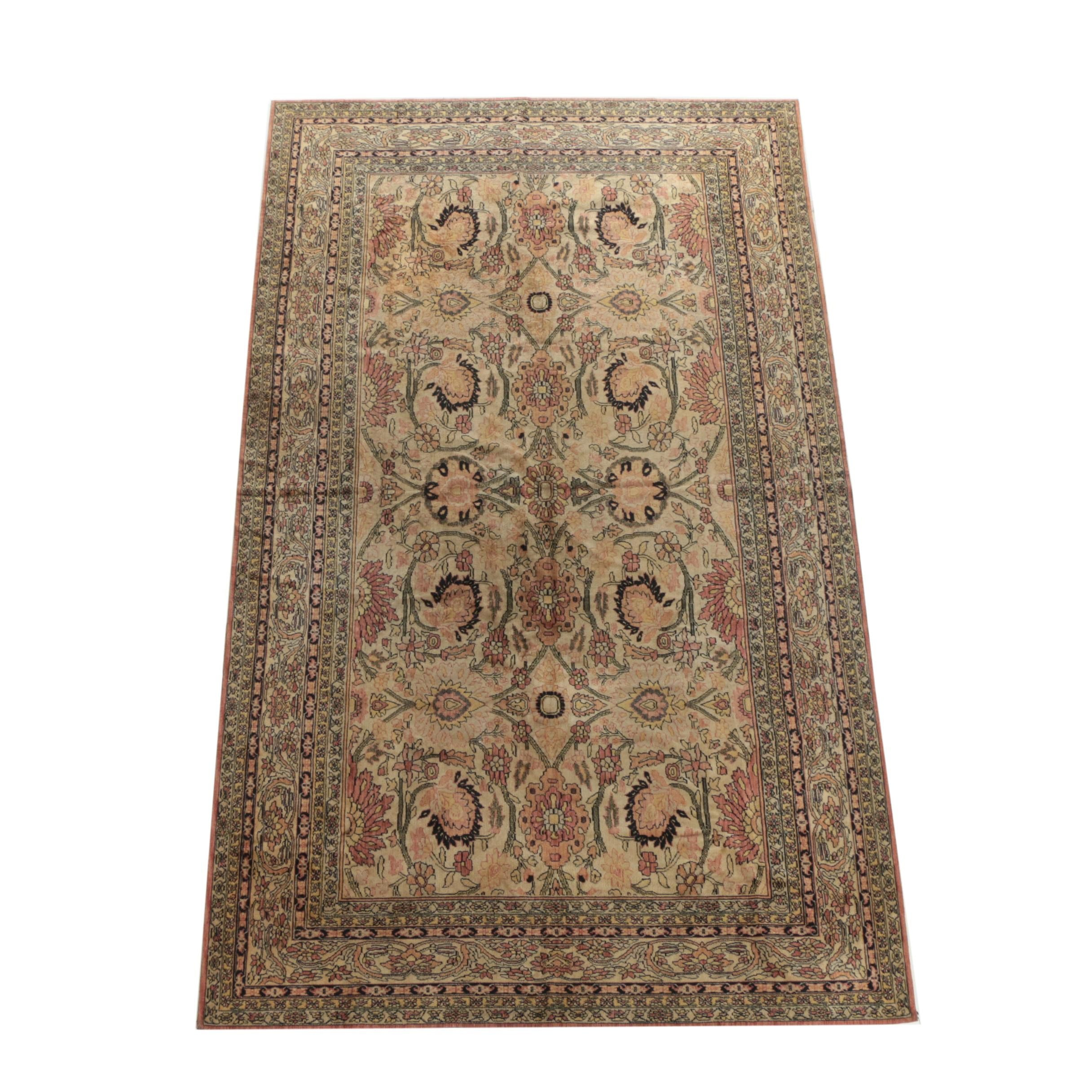 Vintage German Power-Loomed Persian-Style Area Rug by Vorwerk