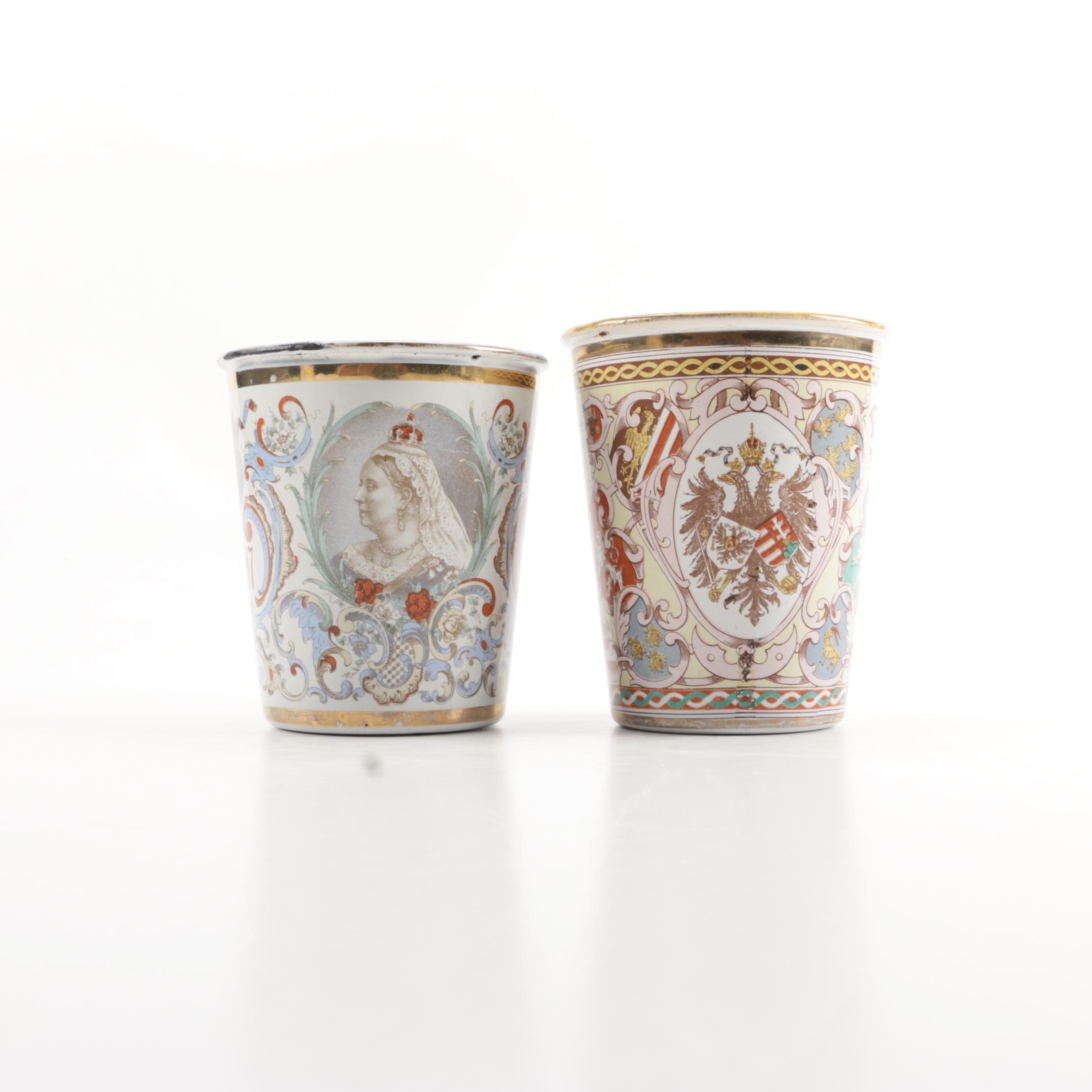 Antique Commemorative Cups Including Queen Victoria's Diamond Jubilee