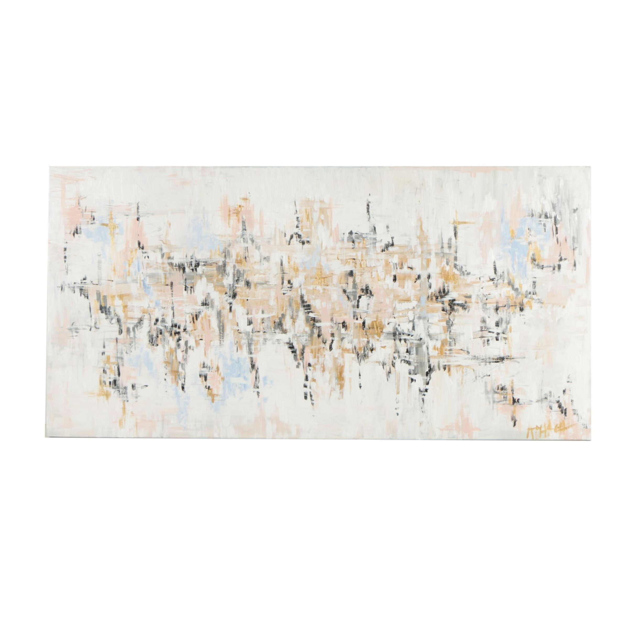 Modern Abstract Oil Painting on Canvas