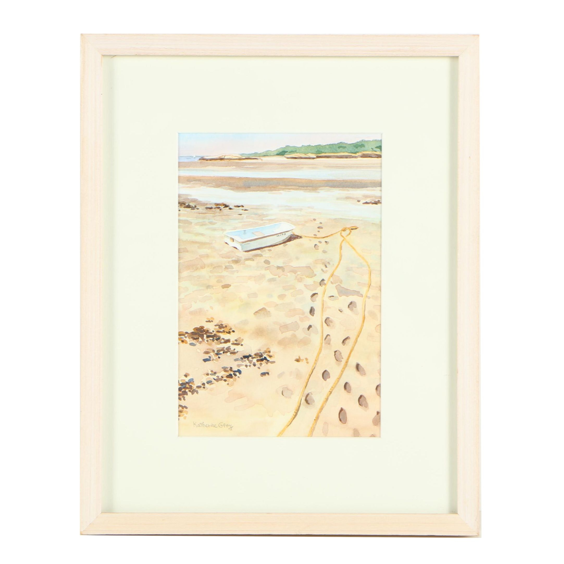 "Katherine Gray Watercolor Painting ""The Mud Flats"""