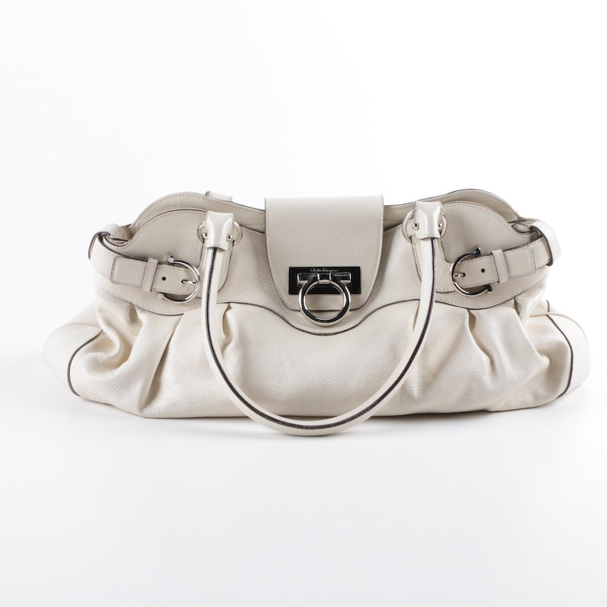 4a462e5282 Salvatore Ferragamo Leather Marisa Shoulder Bag   EBTH