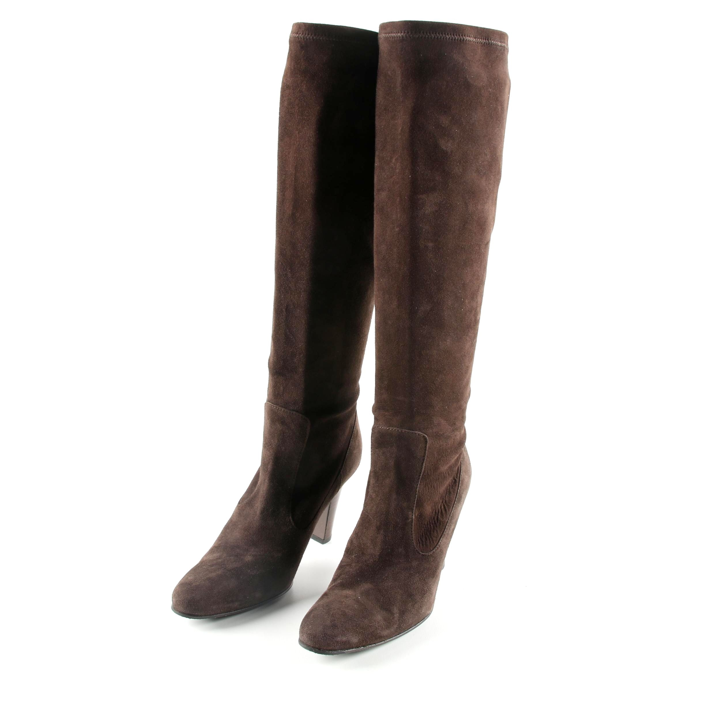 Cole Haan Brown Suede Knee-High Boots