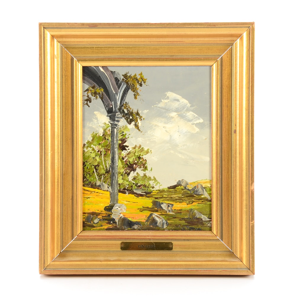 Onasso Original Oil Painting of a Landscape