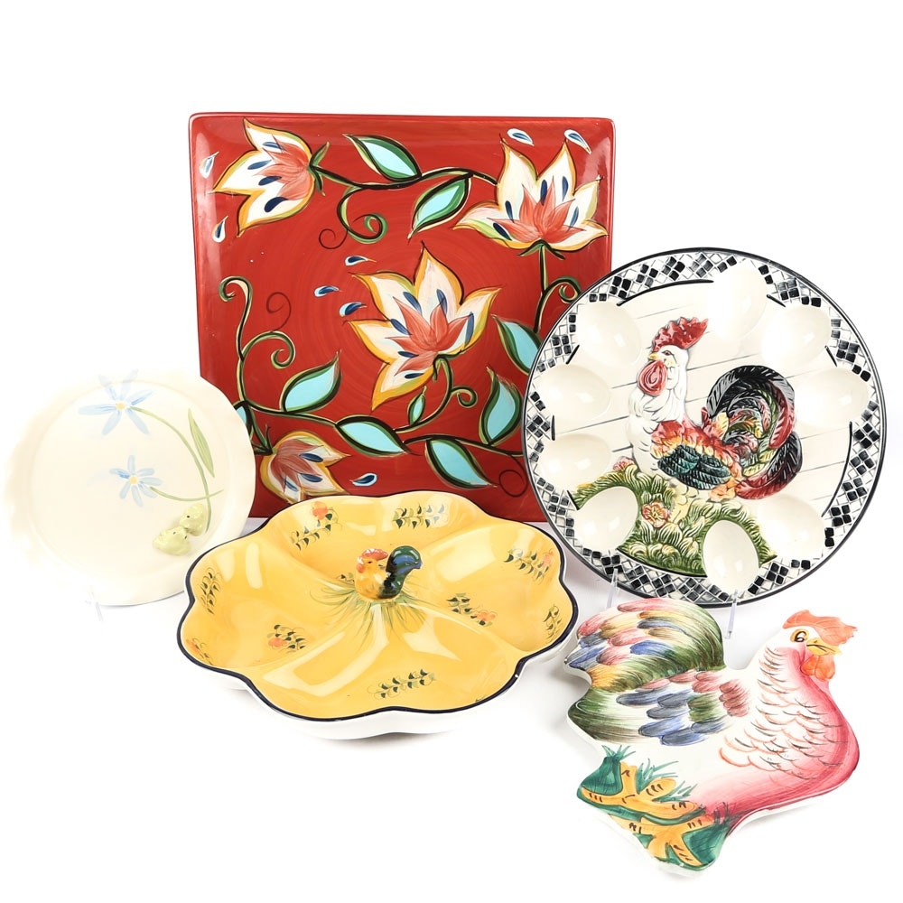 Decorative Ceramic Plates and Trays