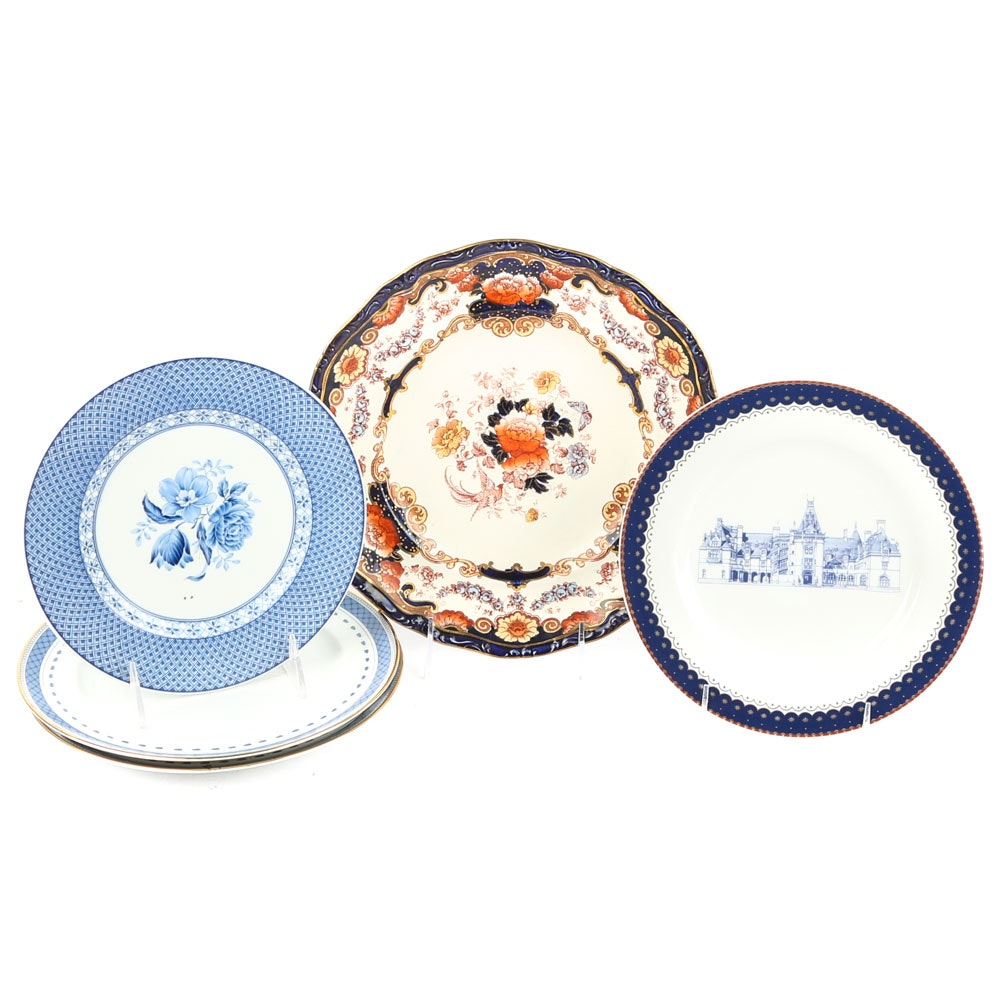 Decorative Porcelain and China Plates Featuring Andrea by Sadek